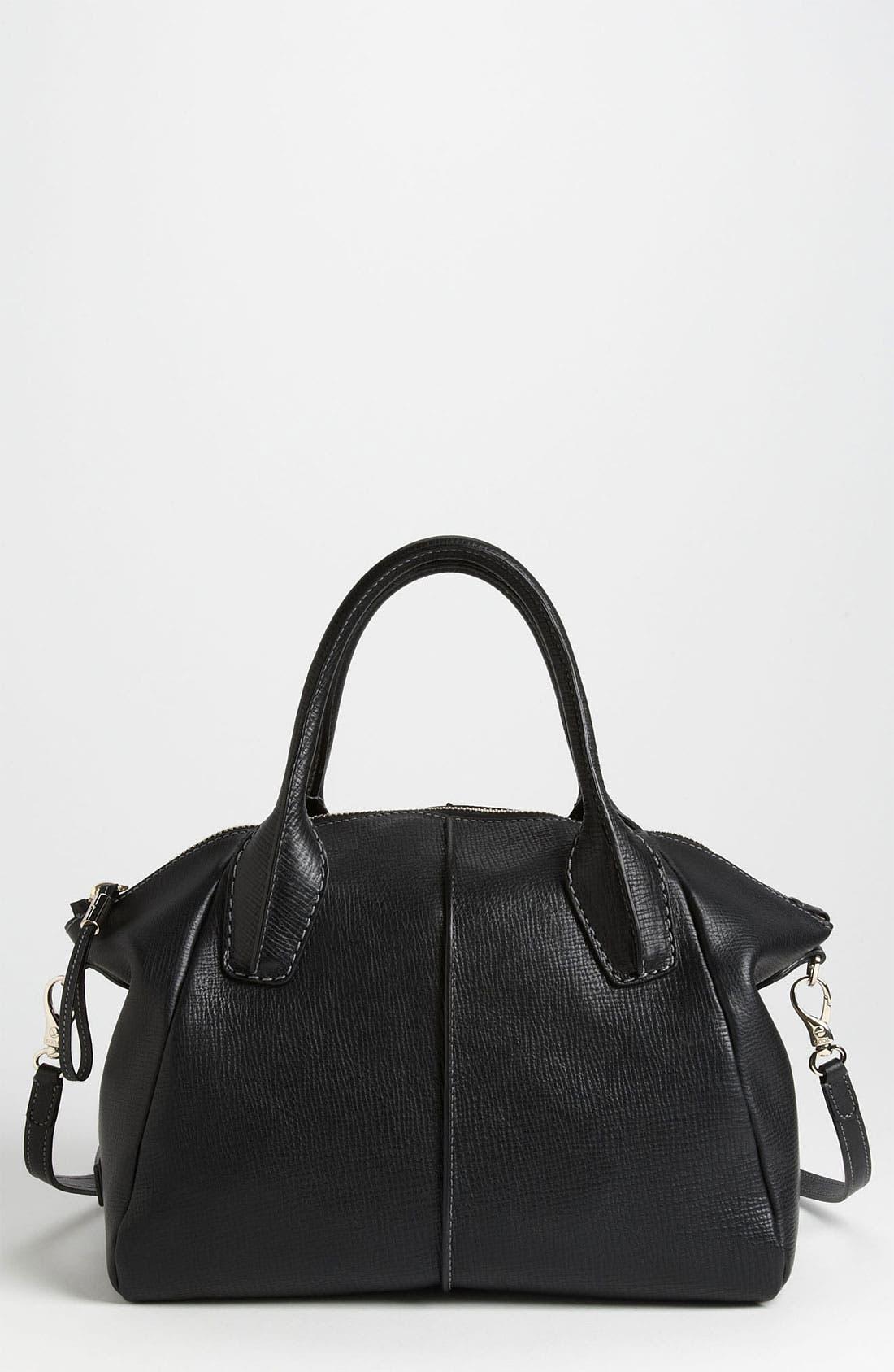 'Medium New D-Styling' Leather Shopper,                             Main thumbnail 1, color,                             001