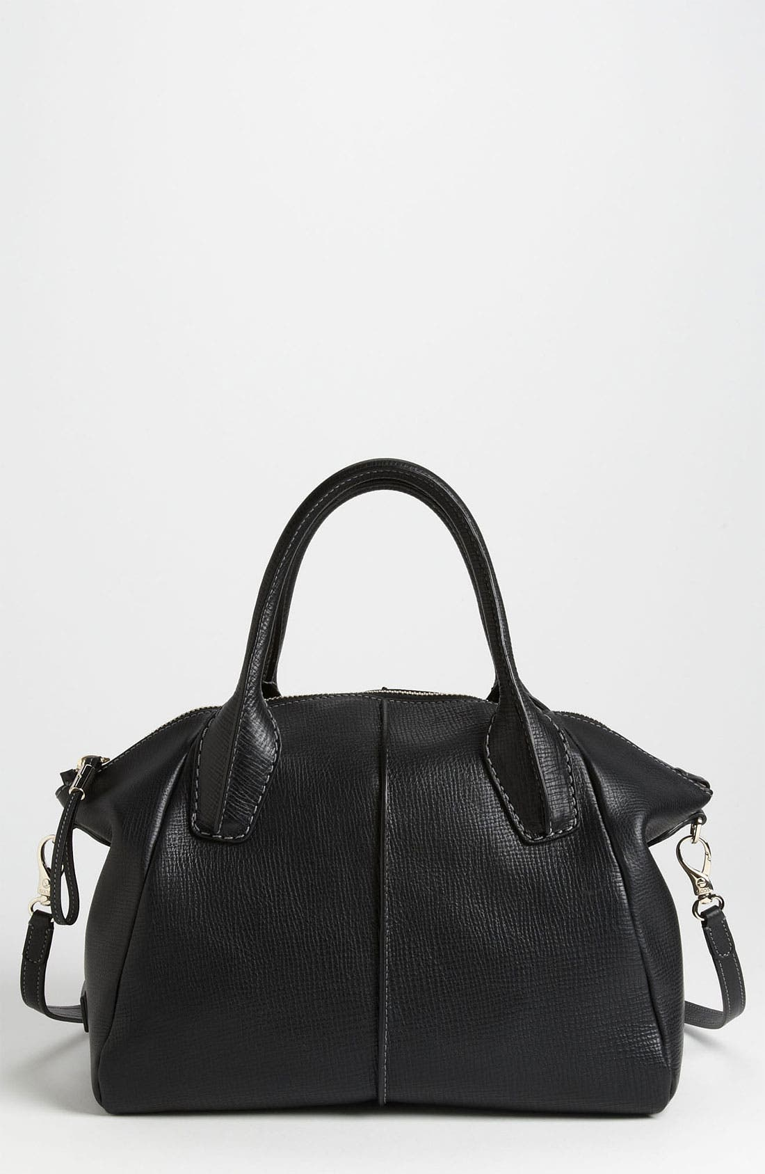 'Medium New D-Styling' Leather Shopper,                         Main,                         color, 001