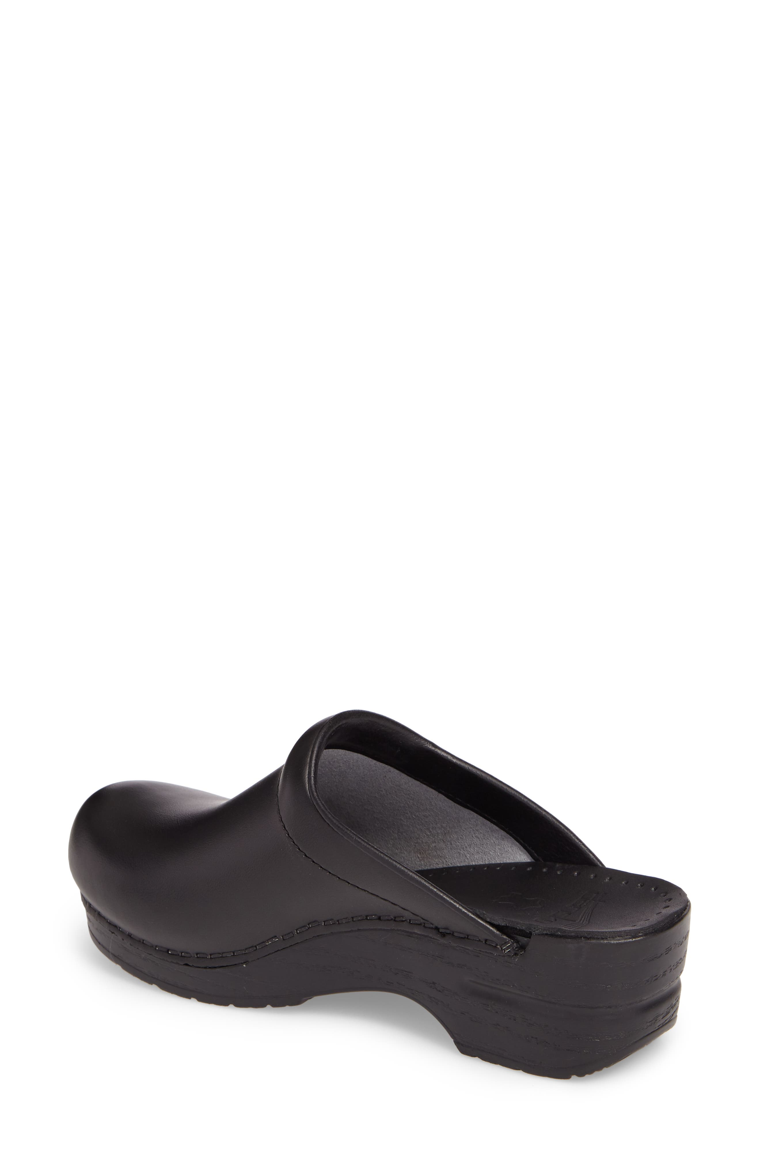 'Sonja' Patent Leather Clog,                             Alternate thumbnail 2, color,                             BLACK BOX LEATHER