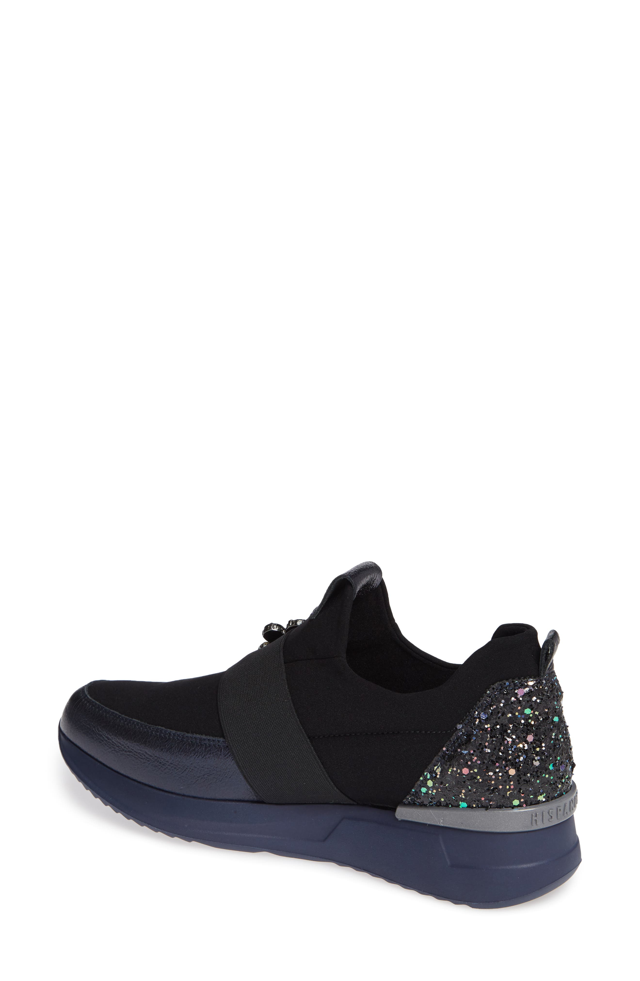 Callen Embellished Sock Sneaker,                             Alternate thumbnail 2, color,                             SHADOW MARINE LEATHER