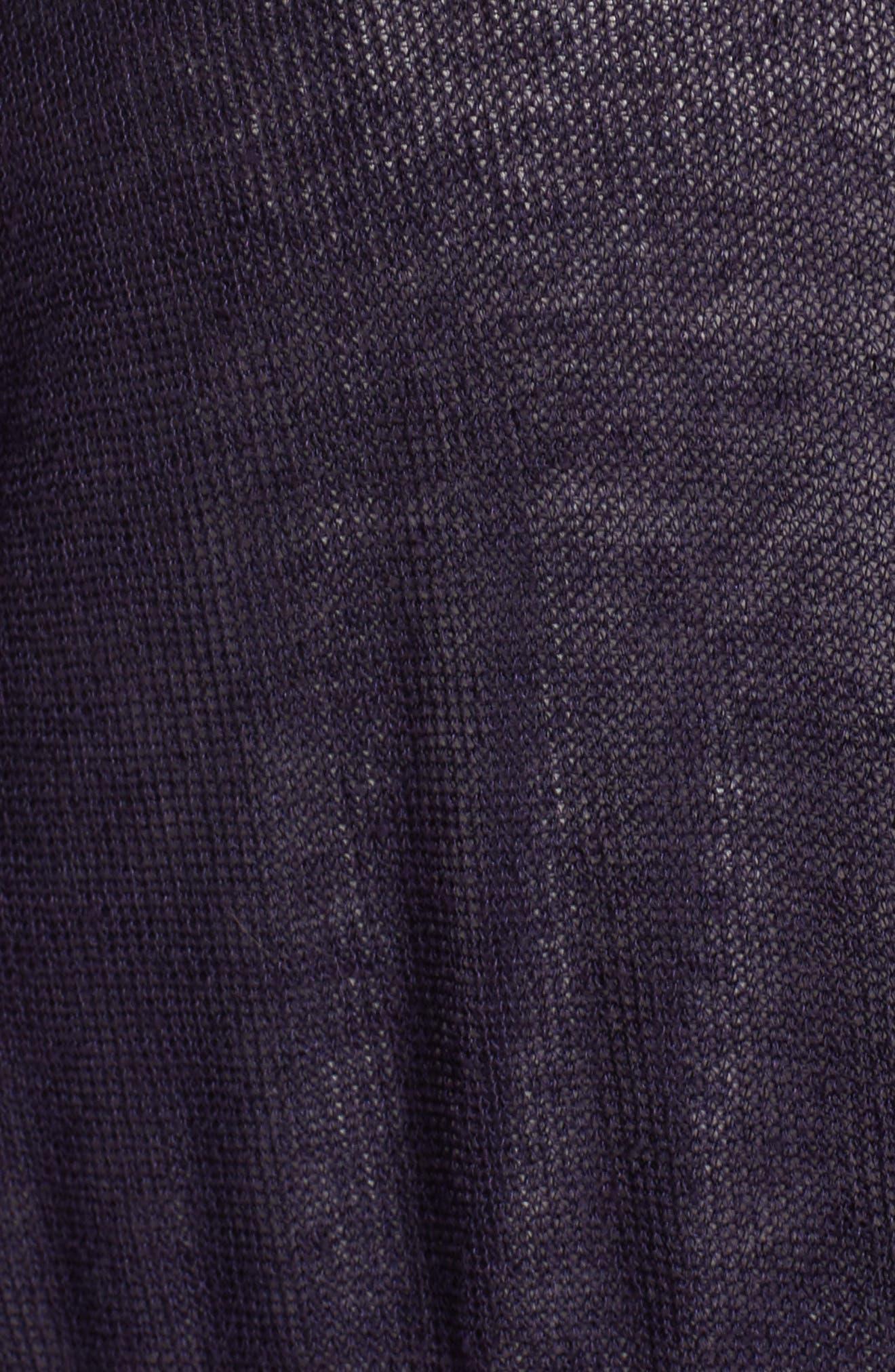 Long Organic Linen Blend Kimono Cardigan,                             Alternate thumbnail 16, color,