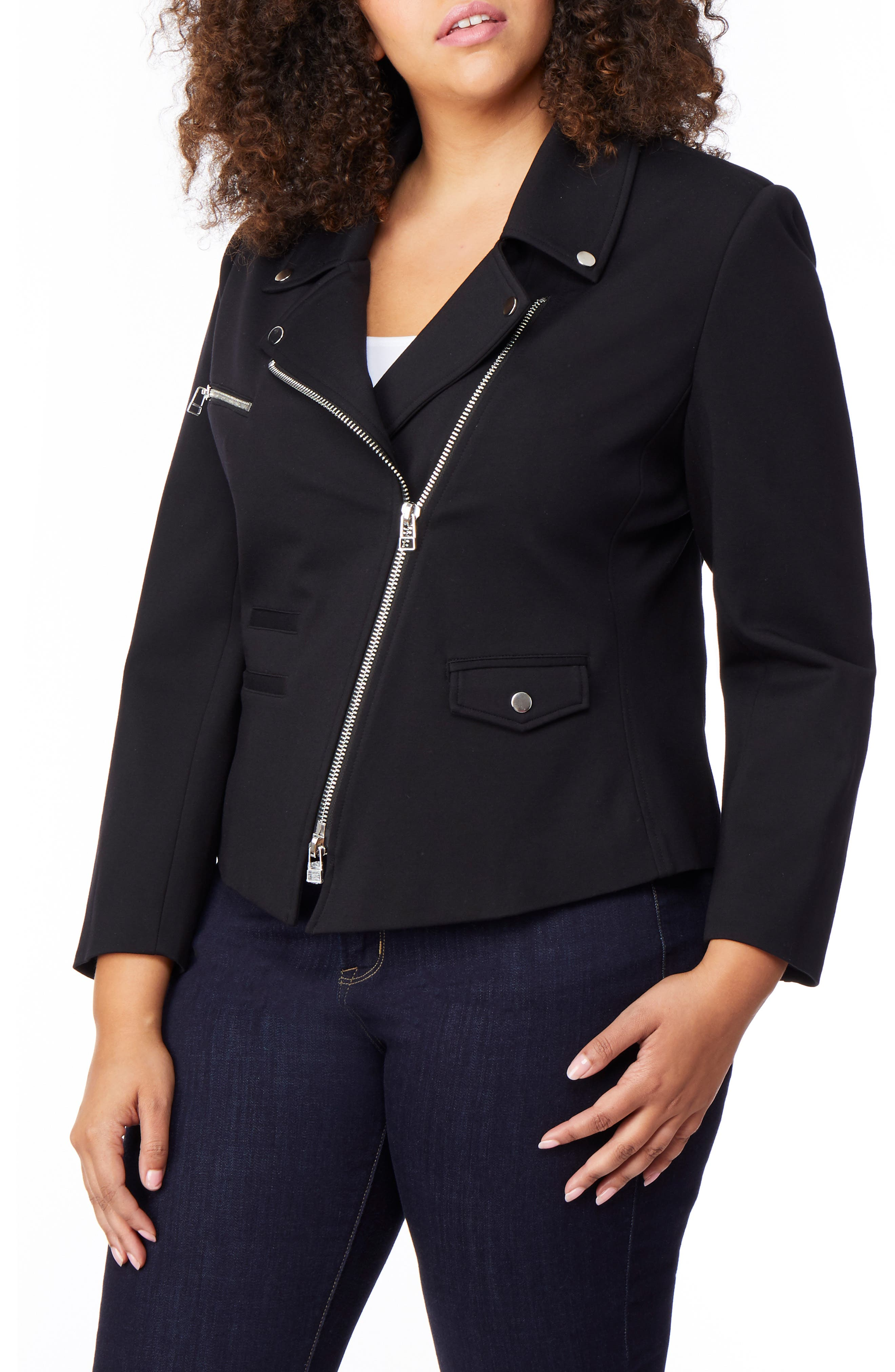 Asymmetrical Zip Moto Jacket,                         Main,                         color, BLACK