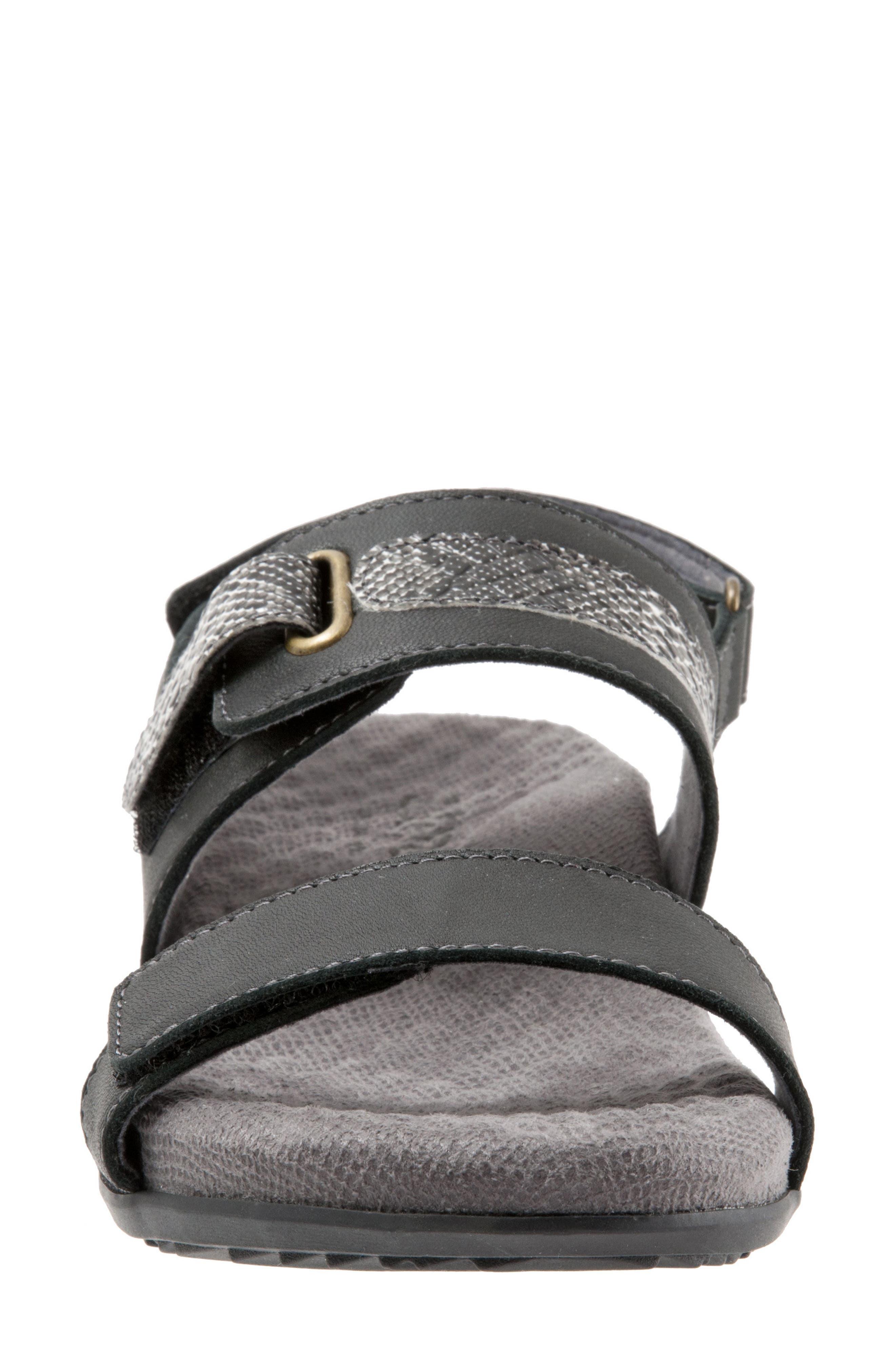 Bimmer Sandal,                             Alternate thumbnail 4, color,                             BLACK LEATHER