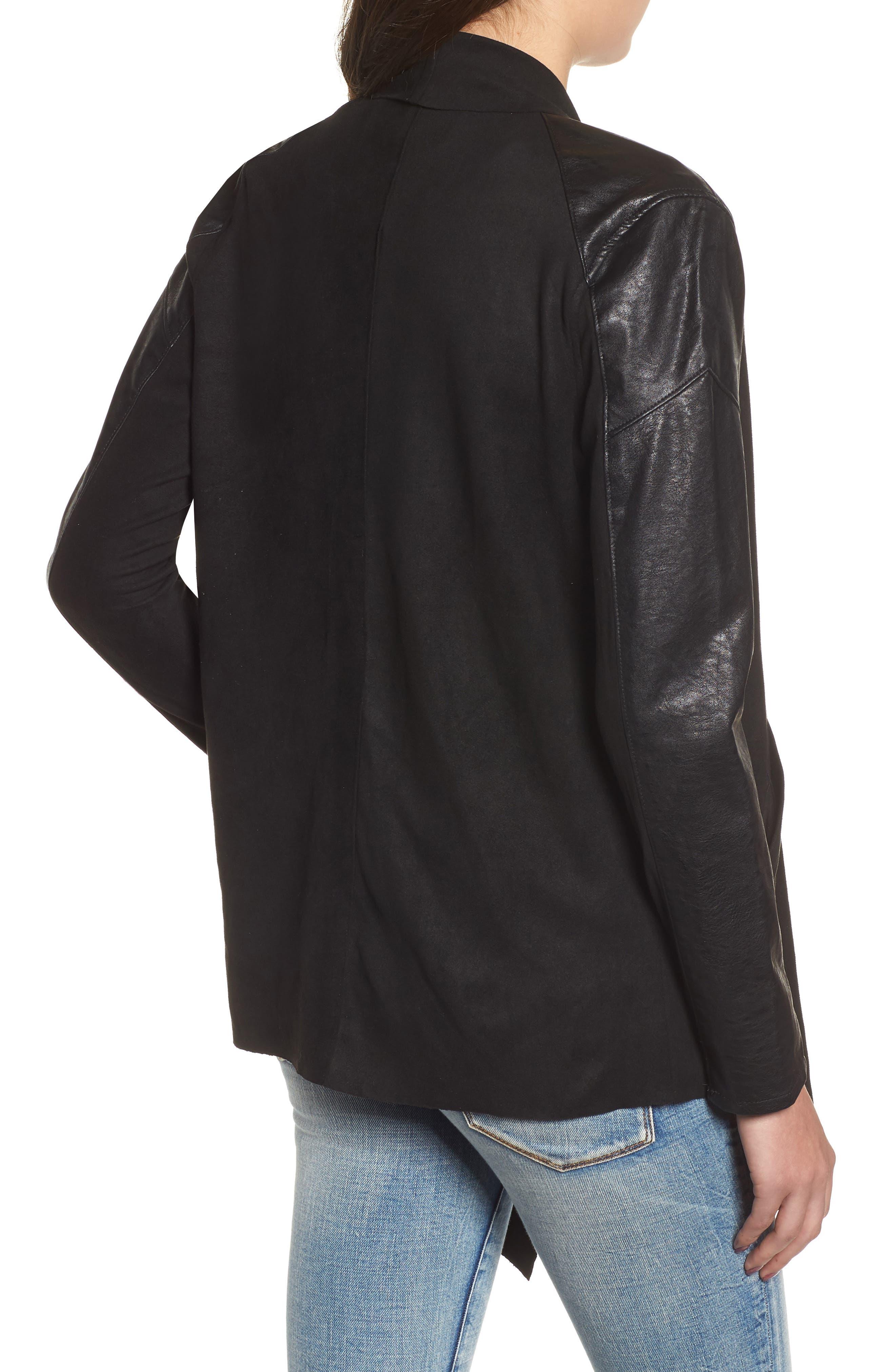 BLANKNYC,                             Drape Front Jacket,                             Alternate thumbnail 2, color,                             INK