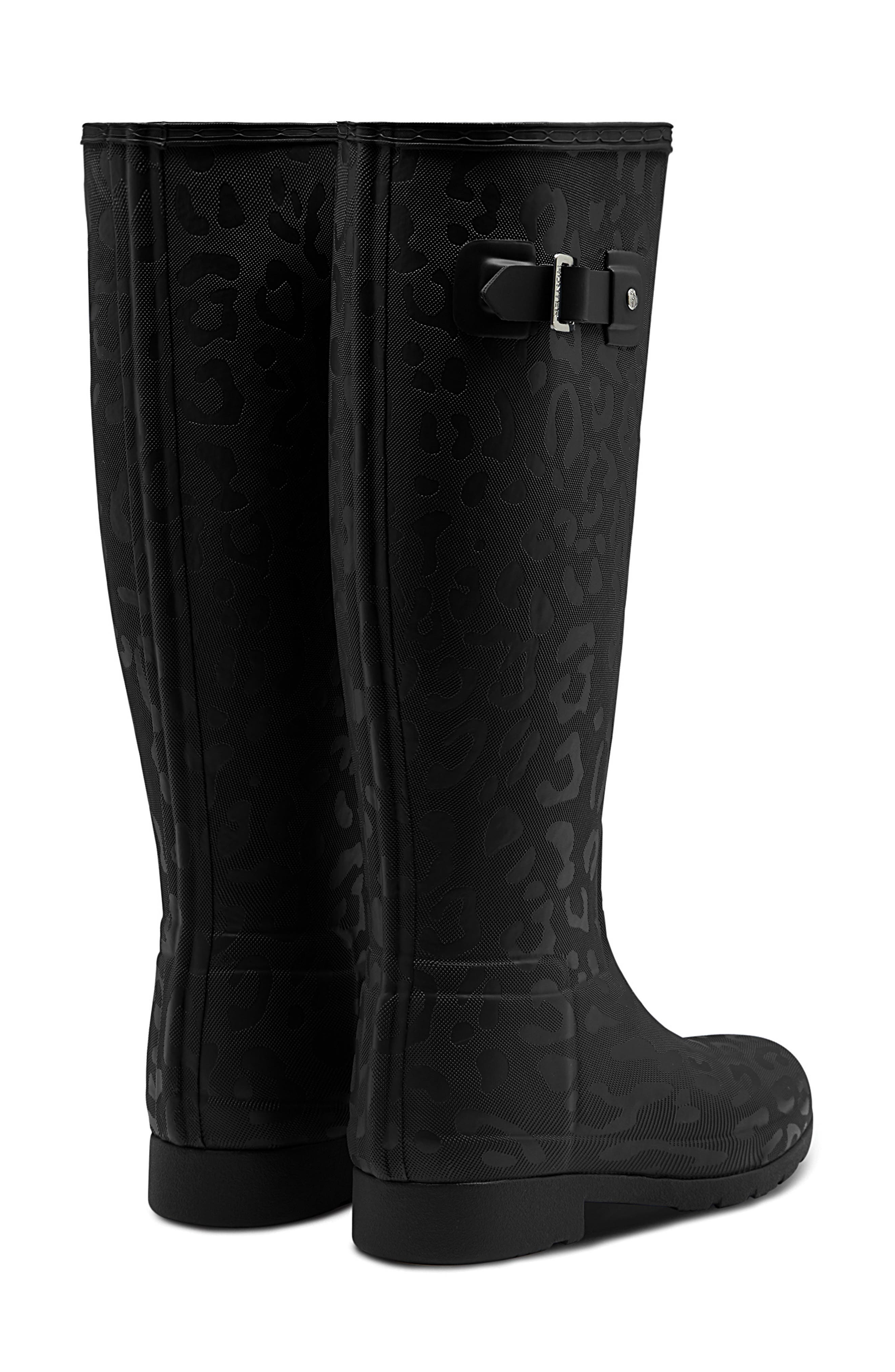 Original Insulated Refined Tall Rain Boot,                             Alternate thumbnail 2, color,                             BLACK