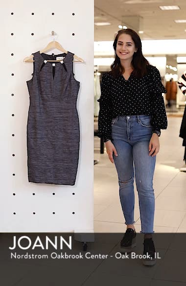 Embellished Cutout Taffeta Sheath Dress, sales video thumbnail