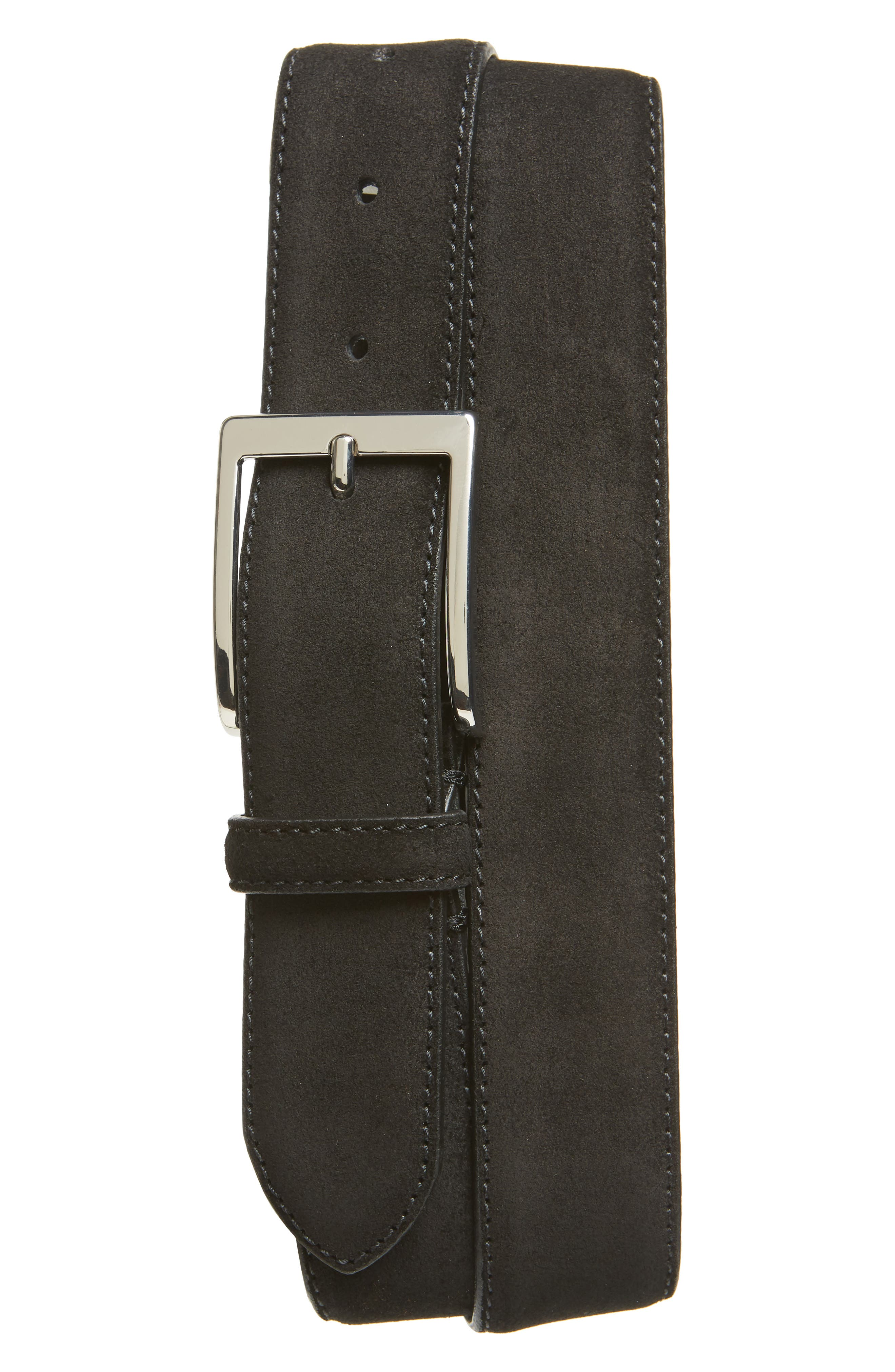TO BOOT NEW YORK Suede Belt, Main, color, 001