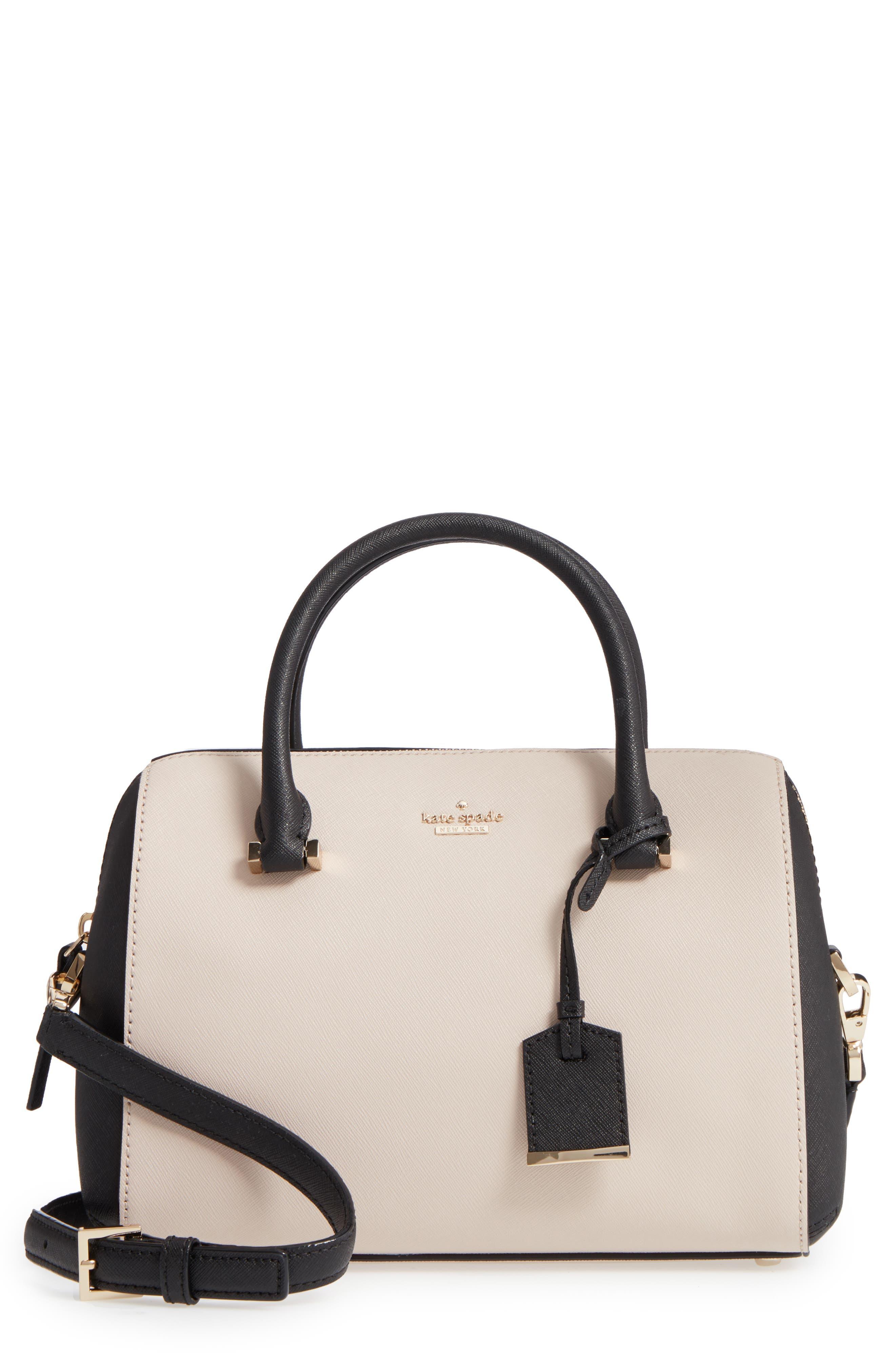 cameron street large lane leather satchel,                         Main,                         color, 005