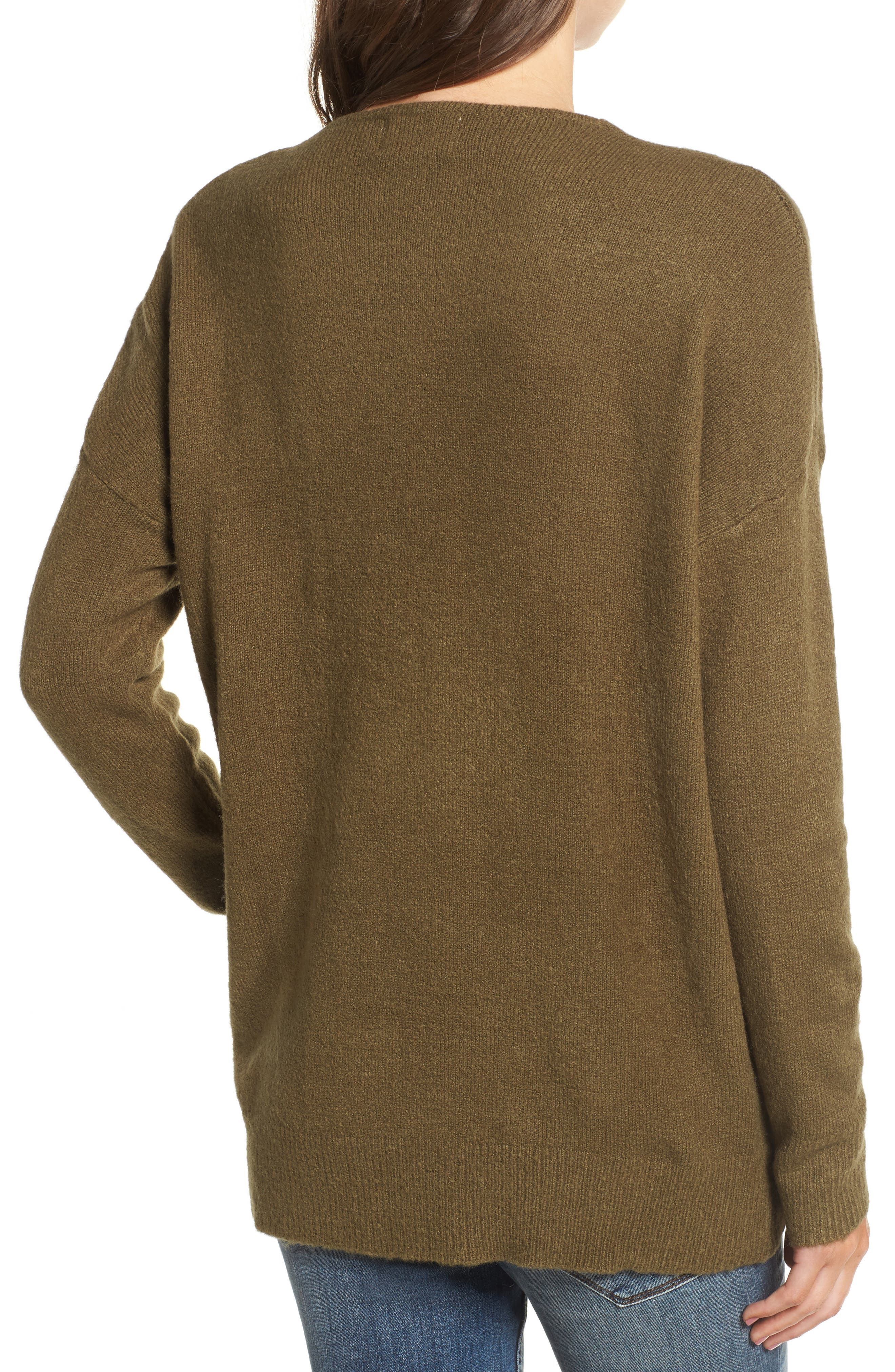 DREAMERS BY DEBUT,                             V-Neck Sweater,                             Alternate thumbnail 2, color,                             310