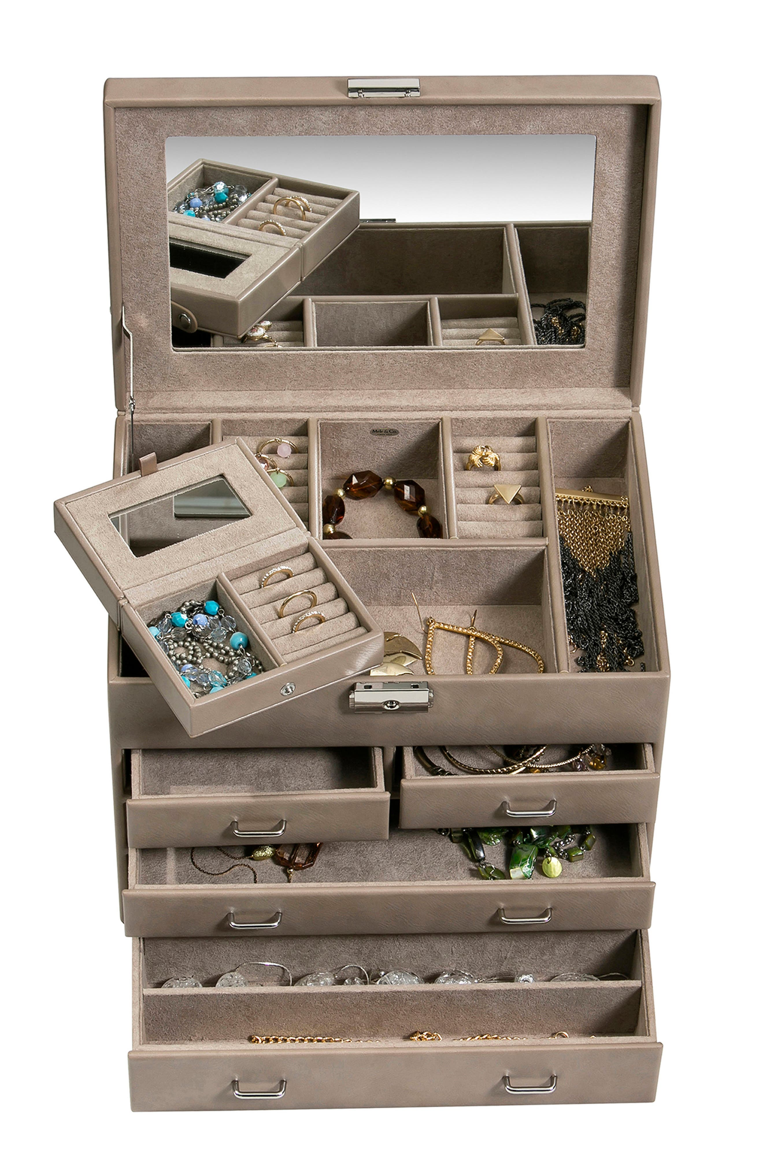 Bennington Locking Jewelry Box,                             Alternate thumbnail 3, color,                             200