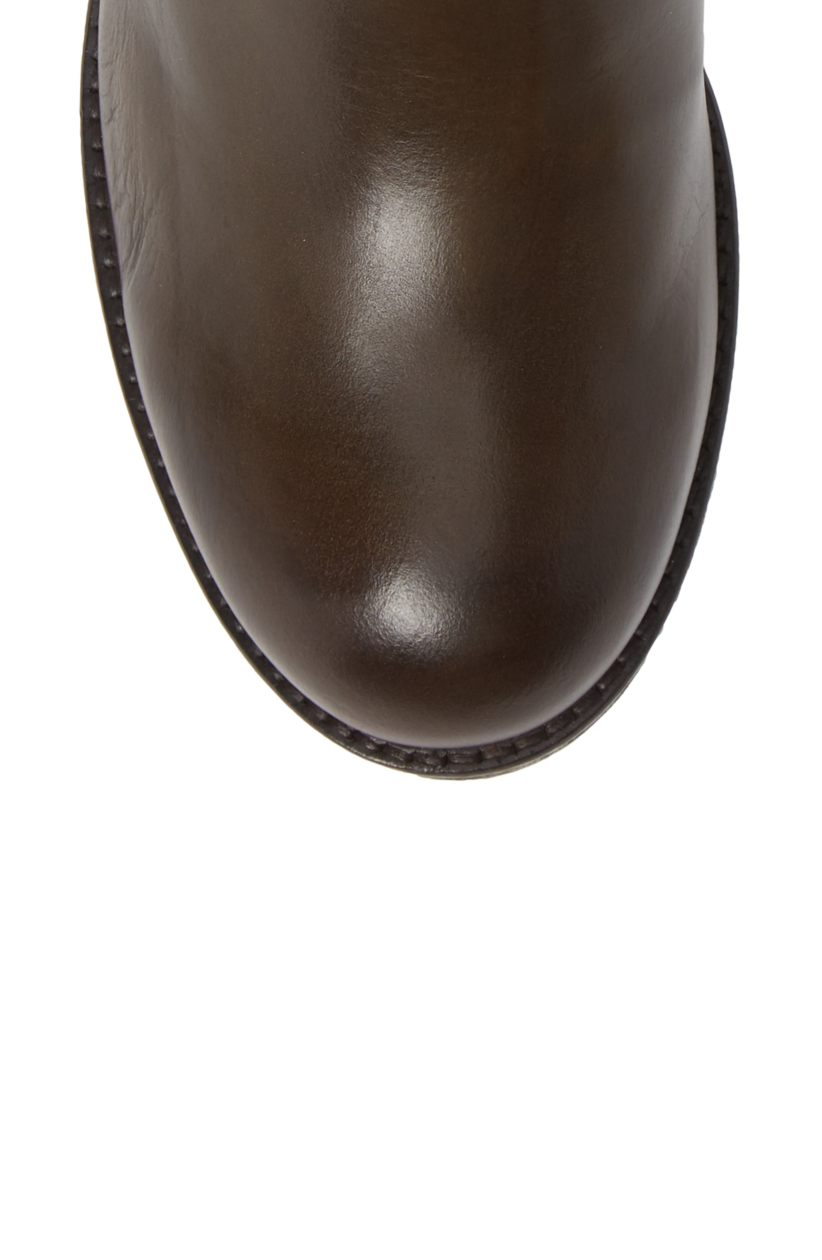 Aedi Boot,                             Alternate thumbnail 5, color,                             OLIVE/ SEAWEED LEATHER