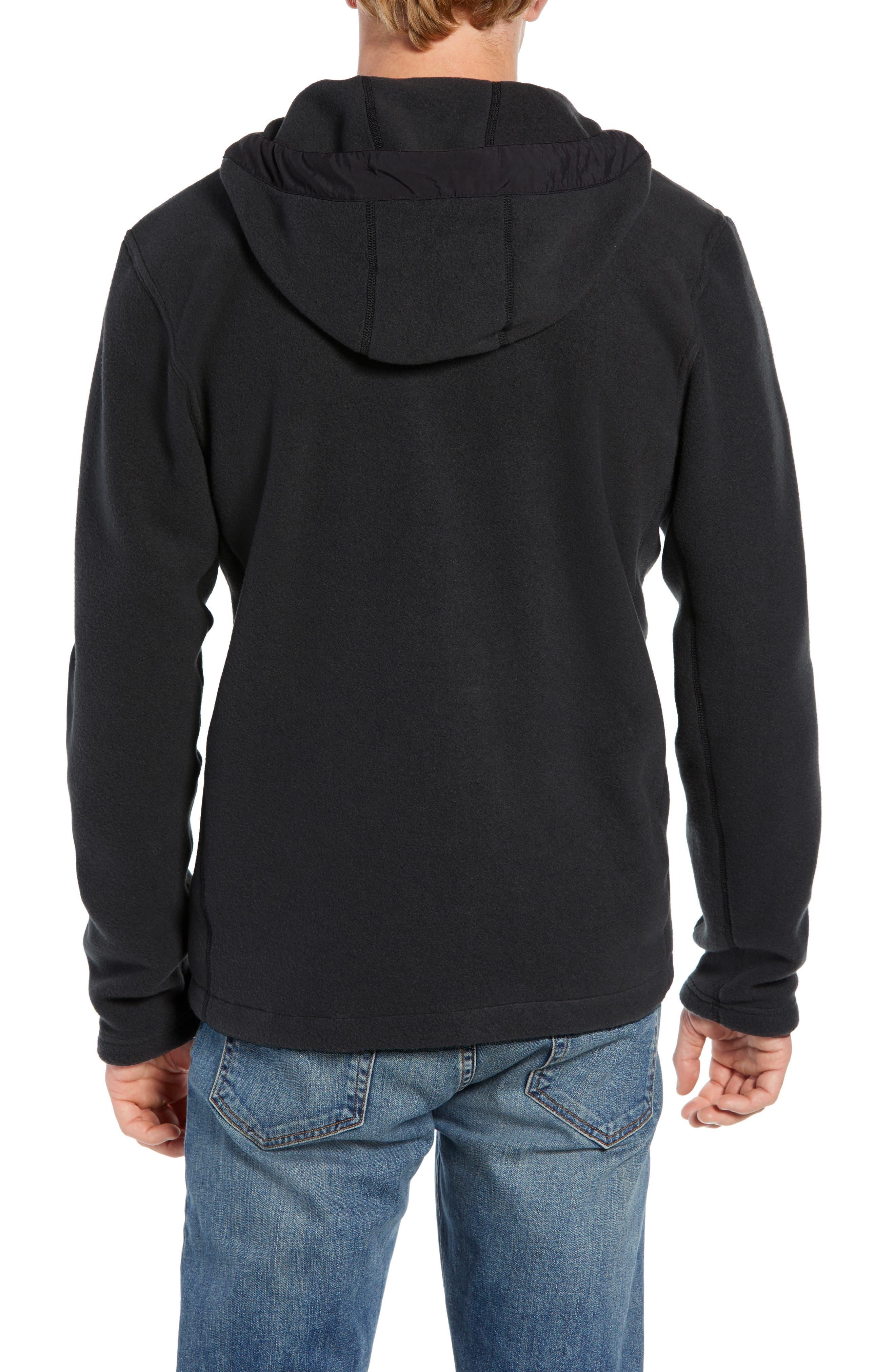 Pyrite Sweater Knit Fleece Hoodie,                             Alternate thumbnail 2, color,                             TNF BLACK