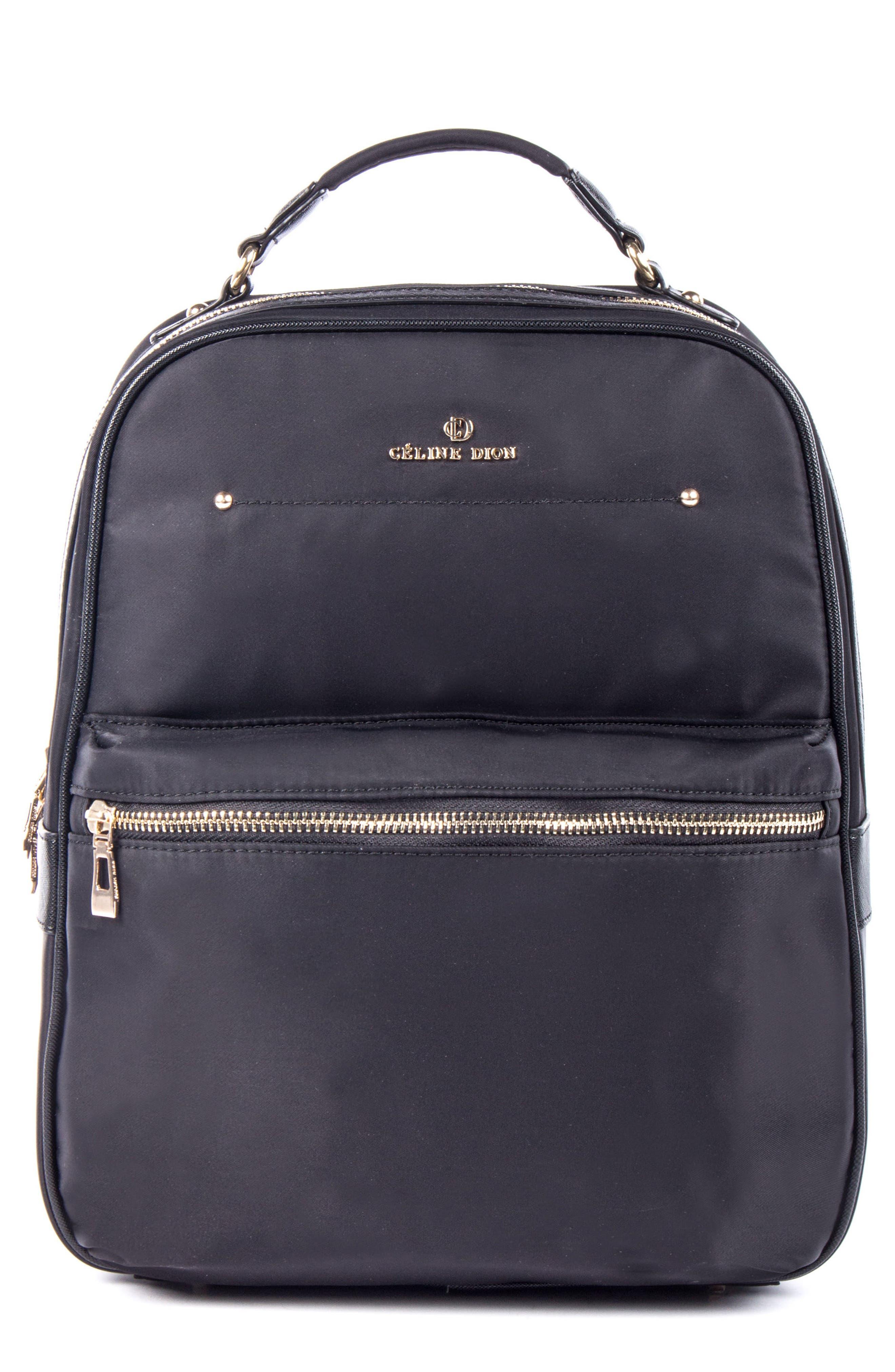 Céline Dion Presto Nylon Backpack,                         Main,                         color,