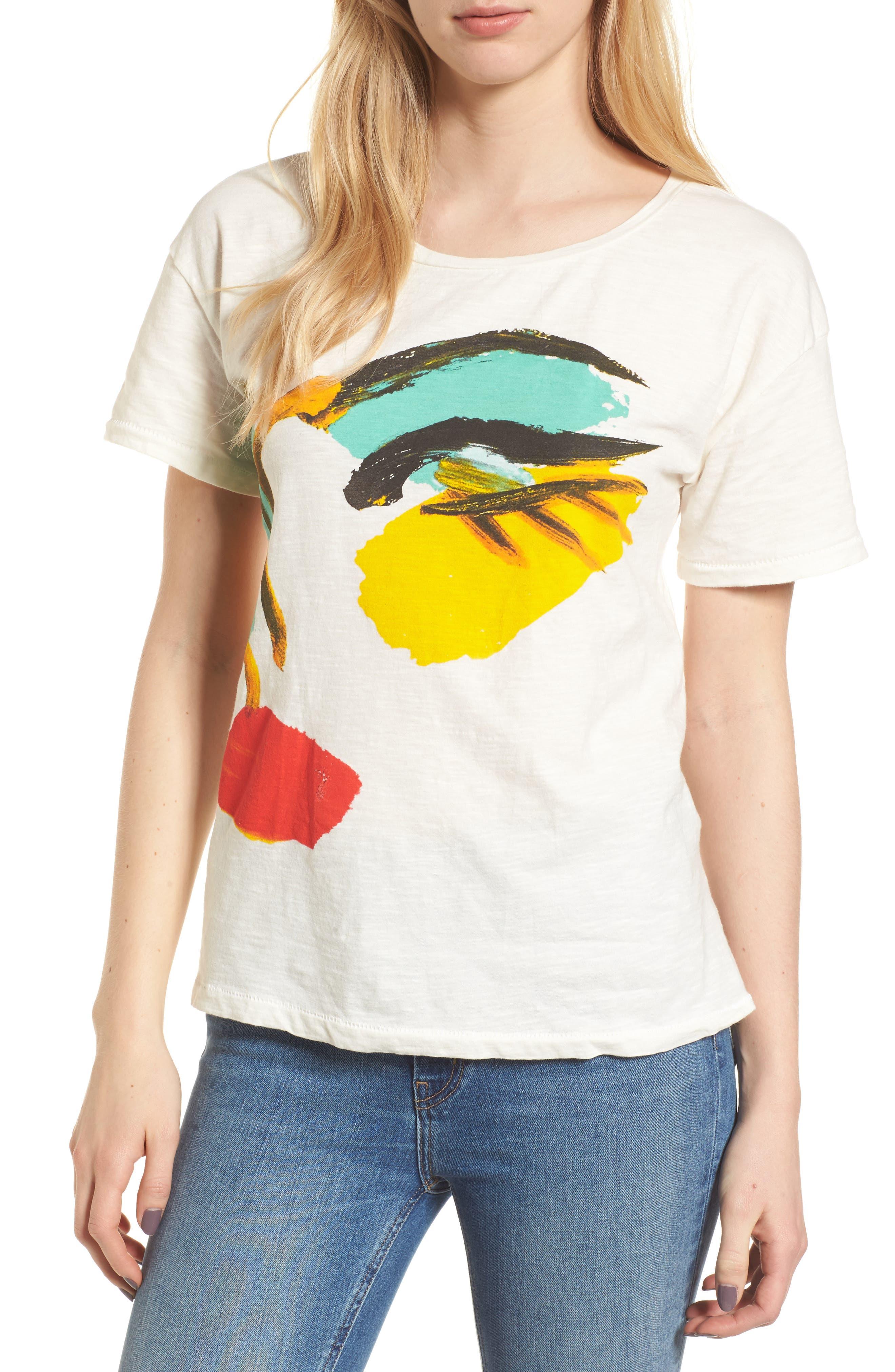 x Donald Robertson Face Tee,                         Main,                         color, 900