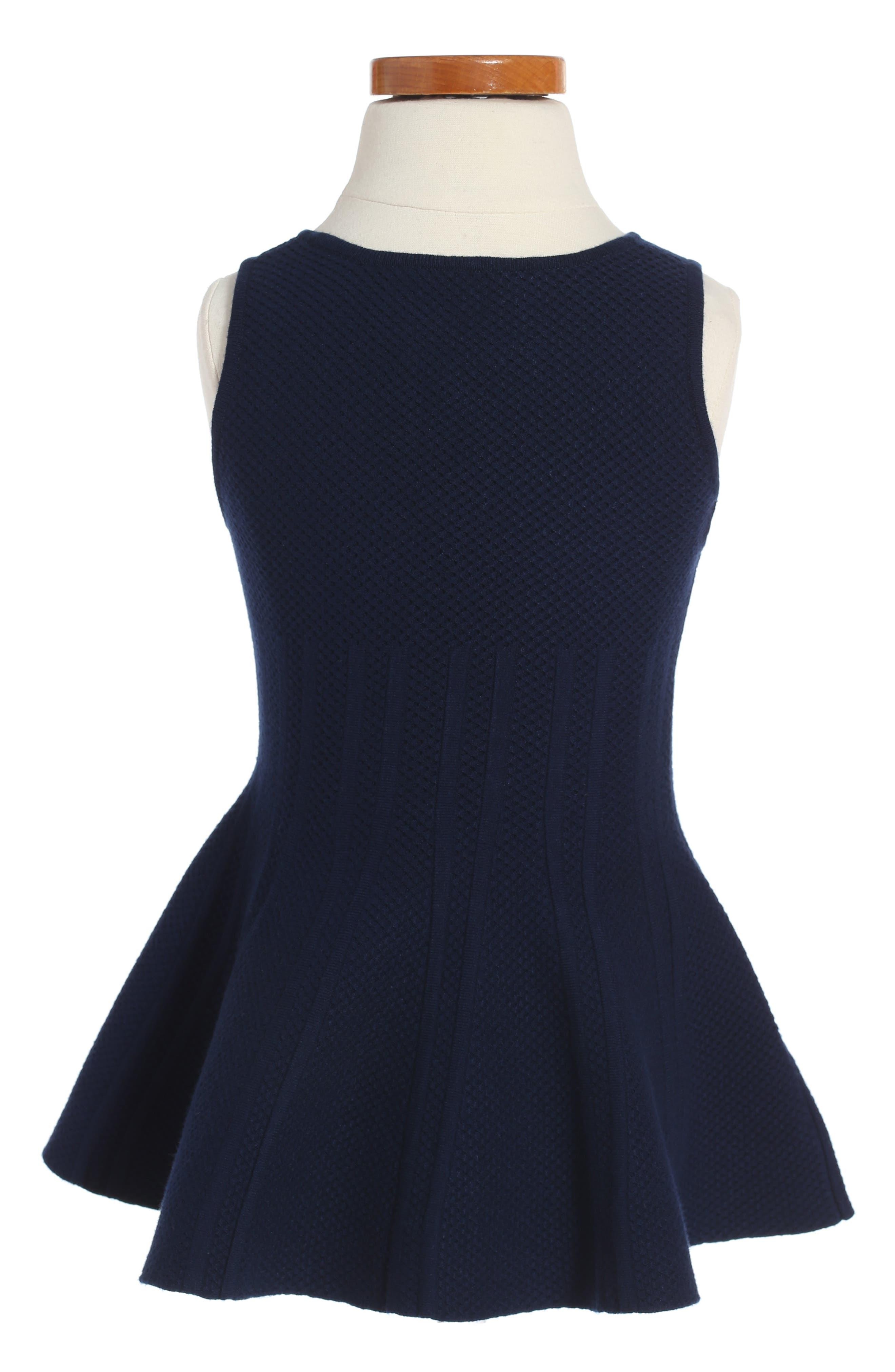 Peplum Hem Dress,                             Alternate thumbnail 4, color,