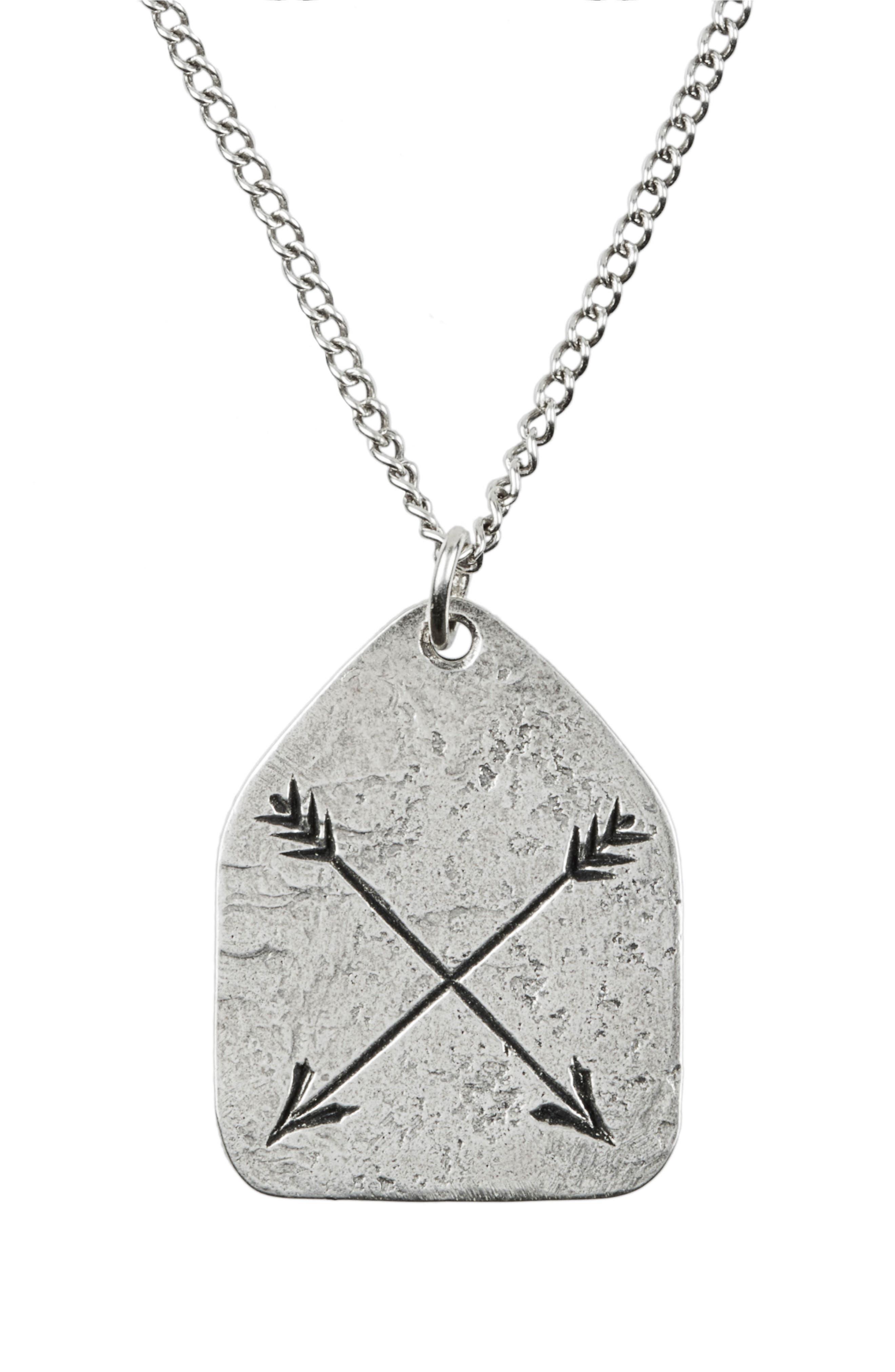 LEWIS HENRY NICHOLAS Arrow Charm Pendant Necklace, Main, color, 040
