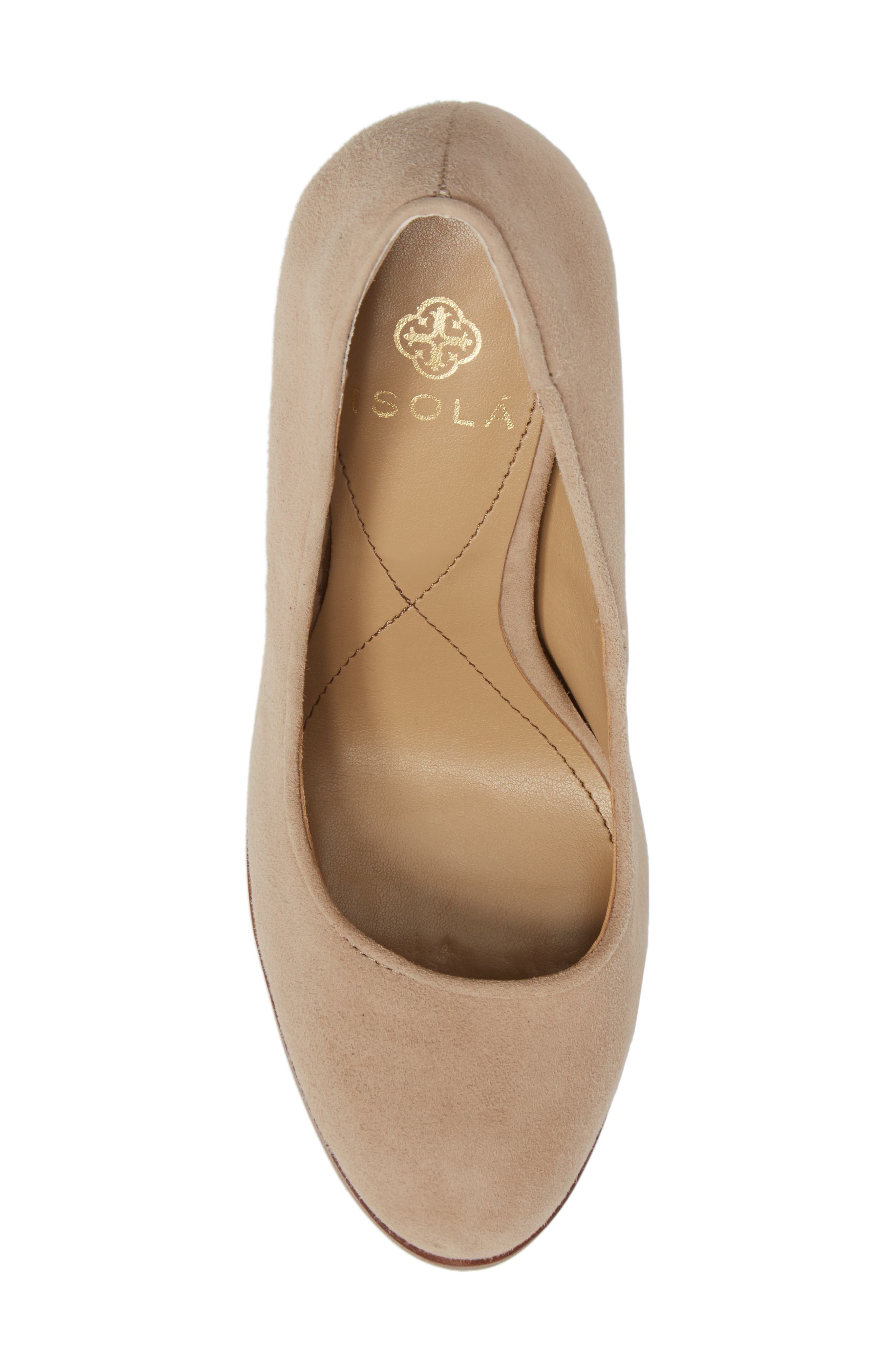 Hayley Pump,                             Alternate thumbnail 5, color,                             BAYWATER SUEDE