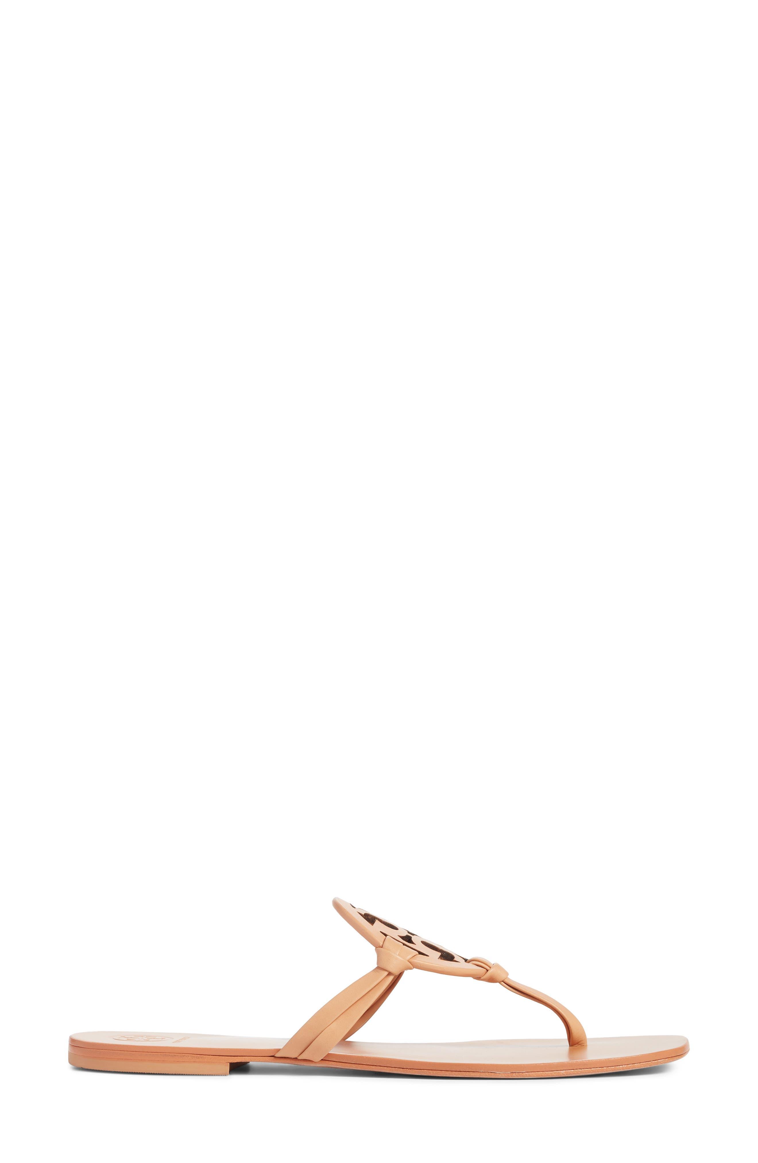 Miller Logo Thong Sandal,                             Alternate thumbnail 3, color,                             NATURAL VACHETTEA