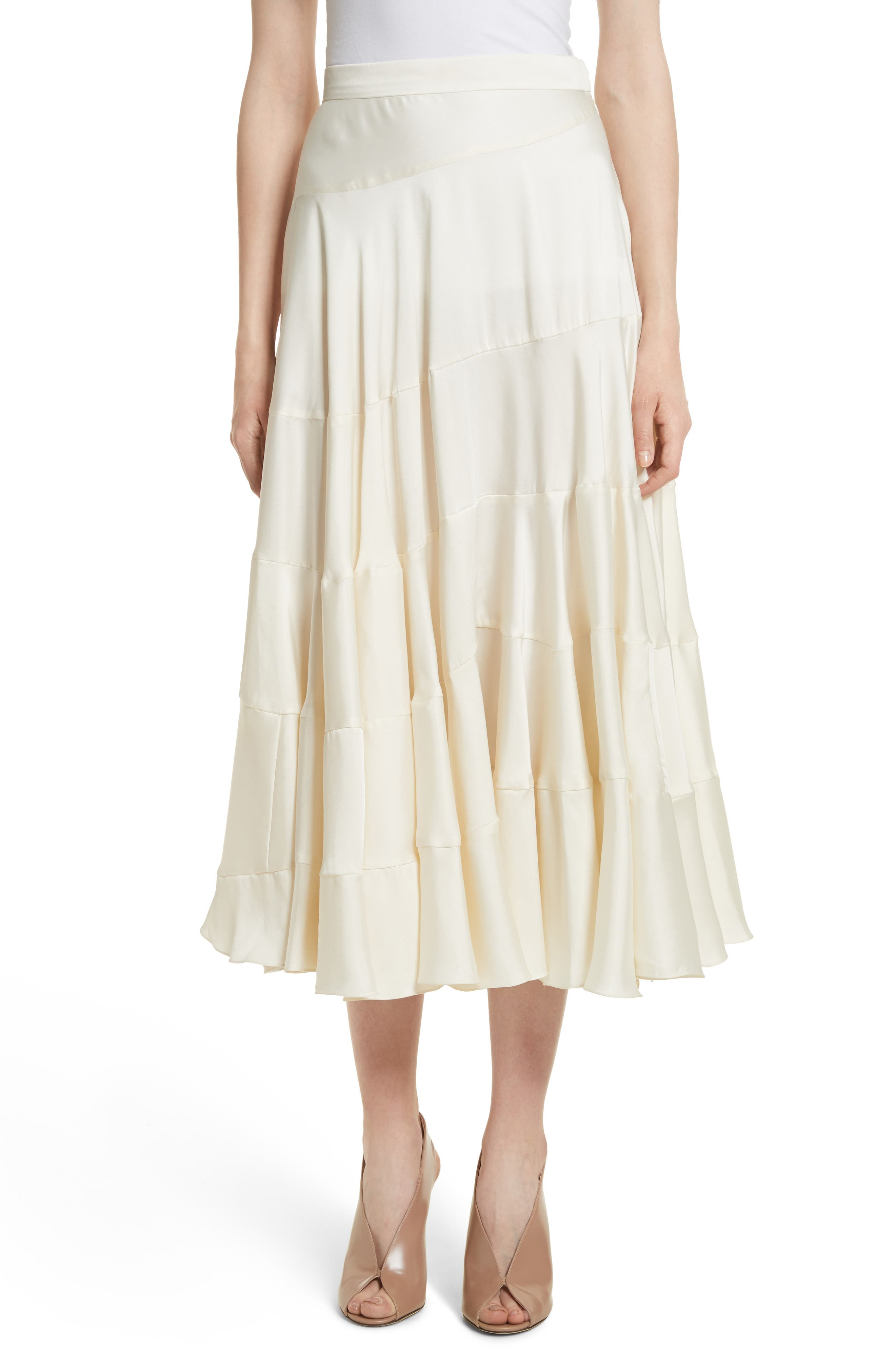 Lasse Satin Paneled Midi Skirt,                             Main thumbnail 1, color,                             103