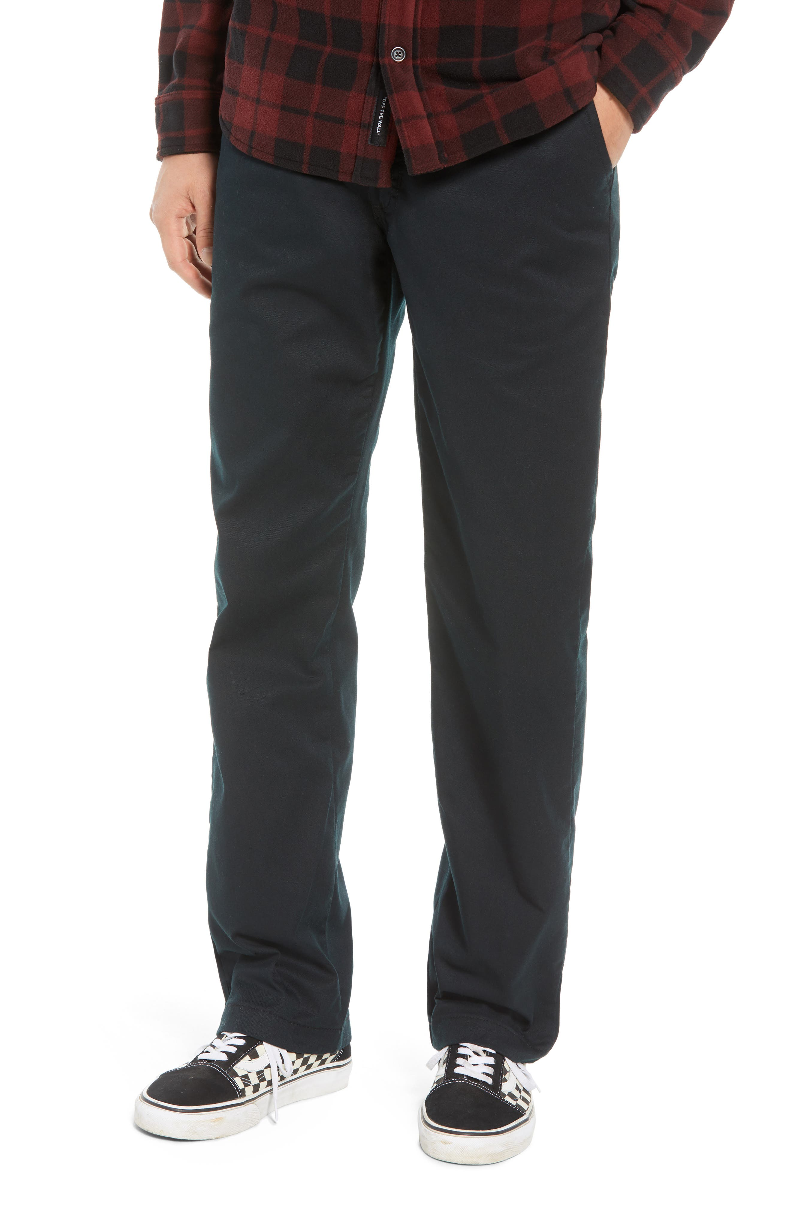 Authentic Chino Pro Pants,                         Main,                         color, BLACK