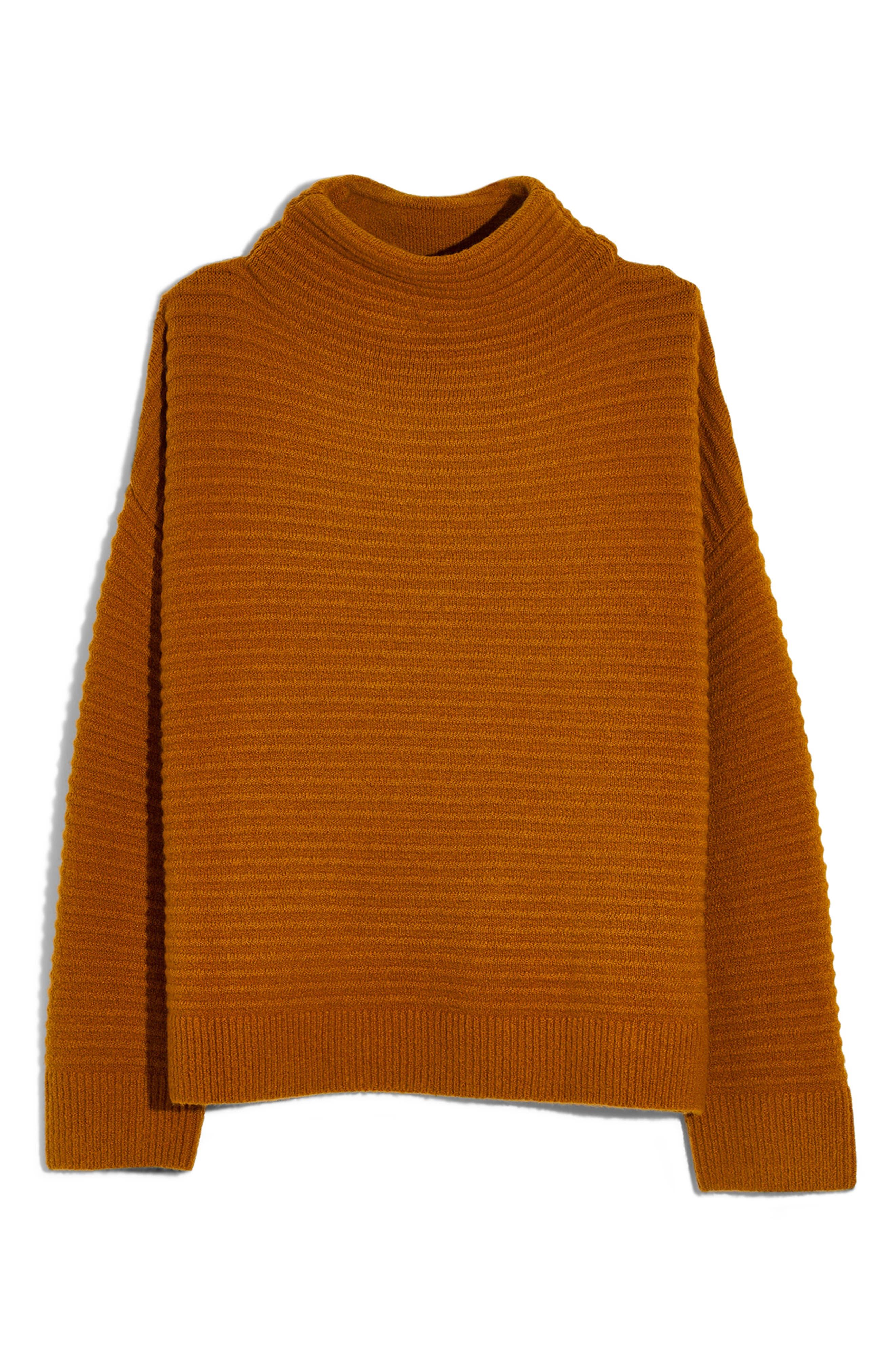 Belmont Mock Neck Sweater,                             Alternate thumbnail 6, color,                             GOLDEN HARVEST