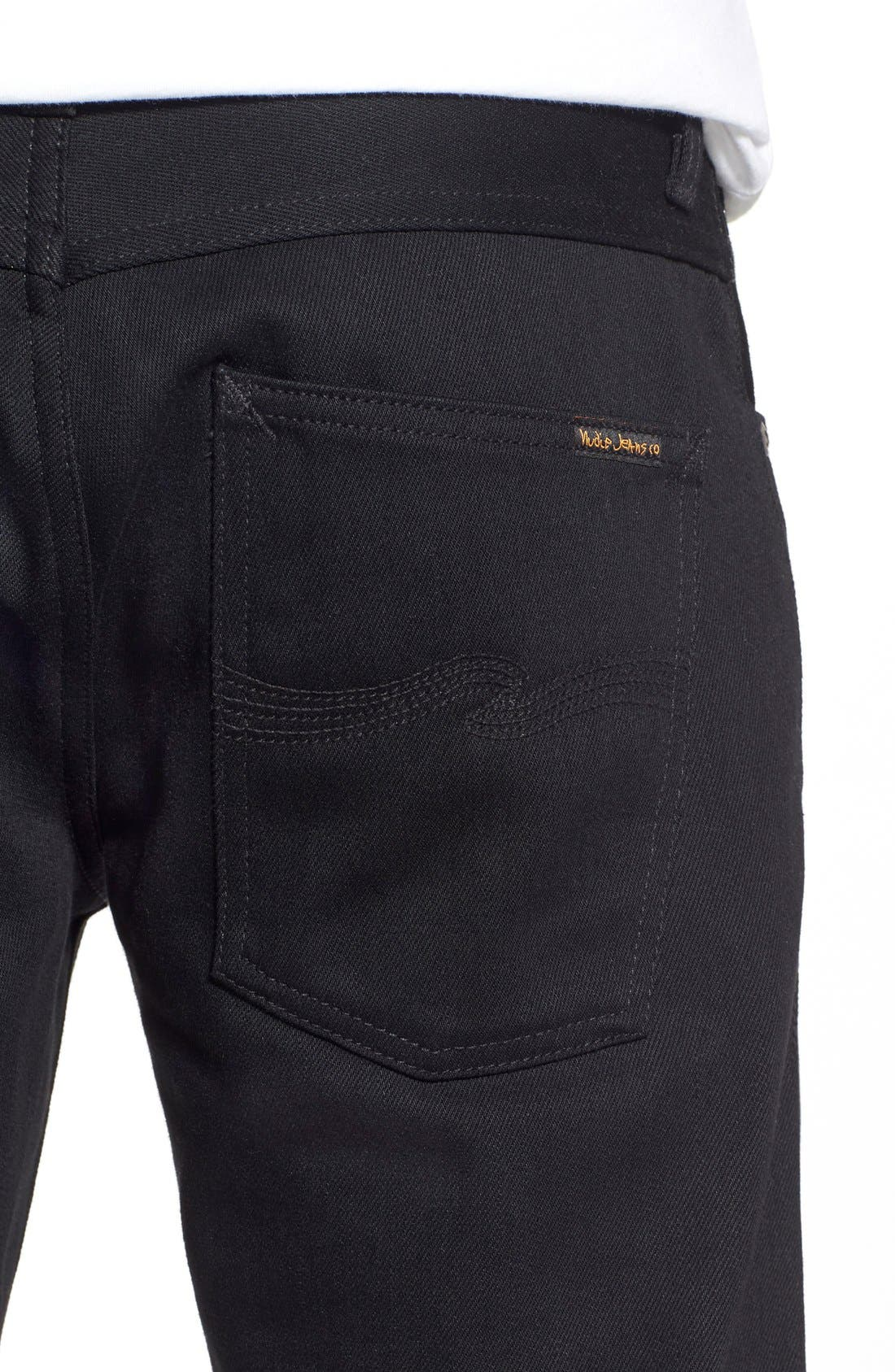 NUDIE JEANS,                             'Grim Tim' Slim Fit Raw Selvedge Jeans,                             Alternate thumbnail 2, color,                             001