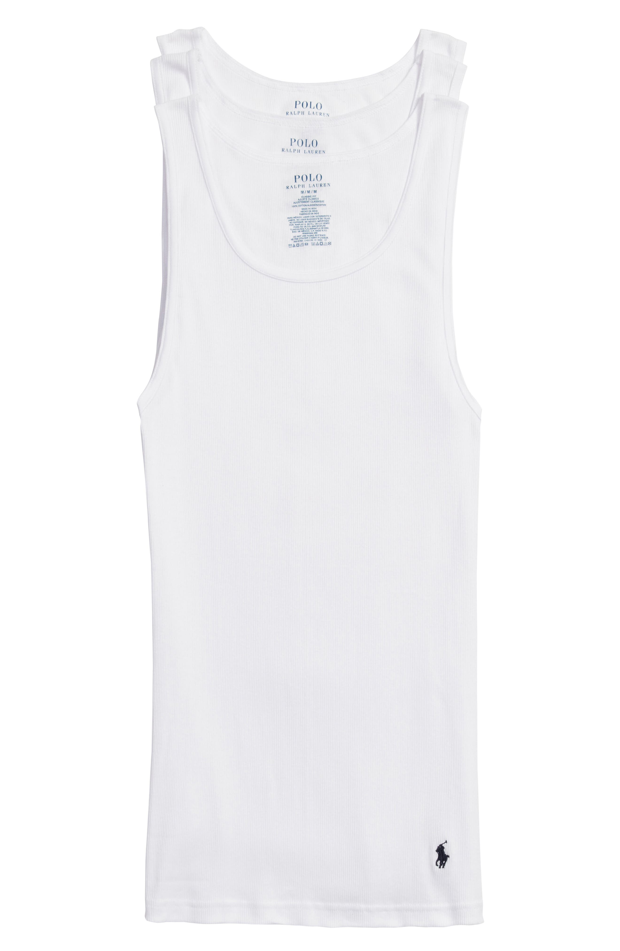 Polo Ralph Lauren 3-Pack Classic Tanks,                             Main thumbnail 1, color,                             WHITE