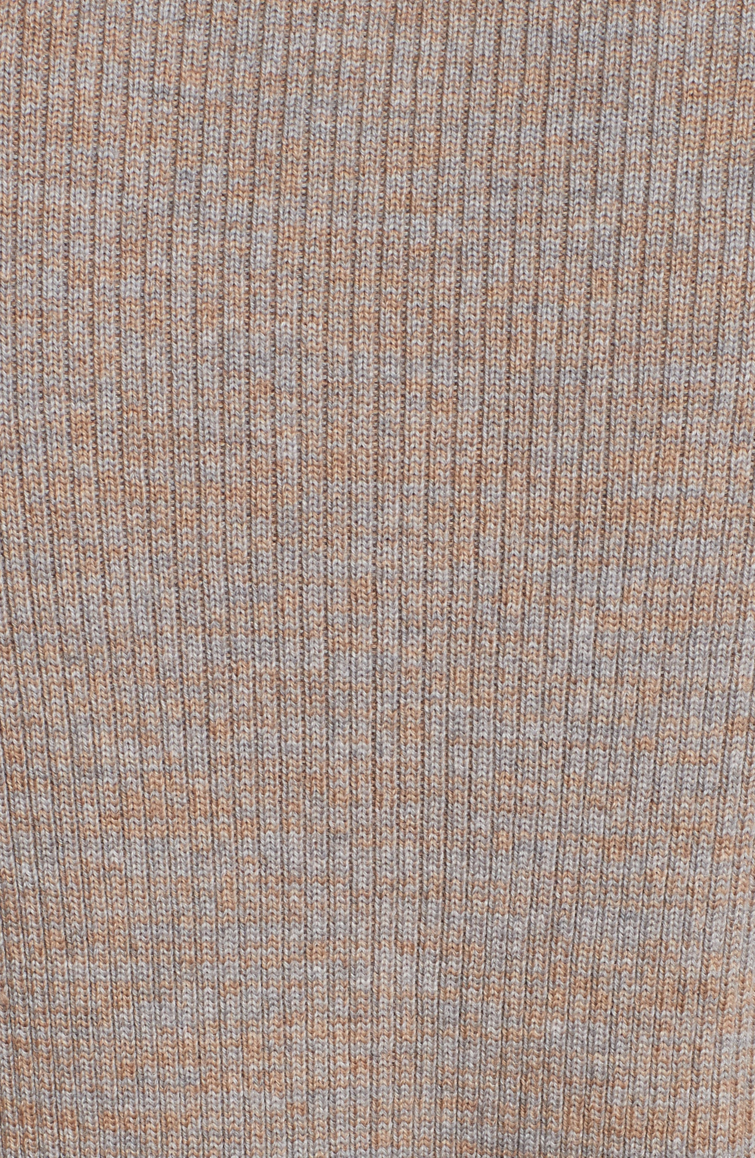 Ribbed V-Neck Wool Sweater,                             Alternate thumbnail 5, color,                             208