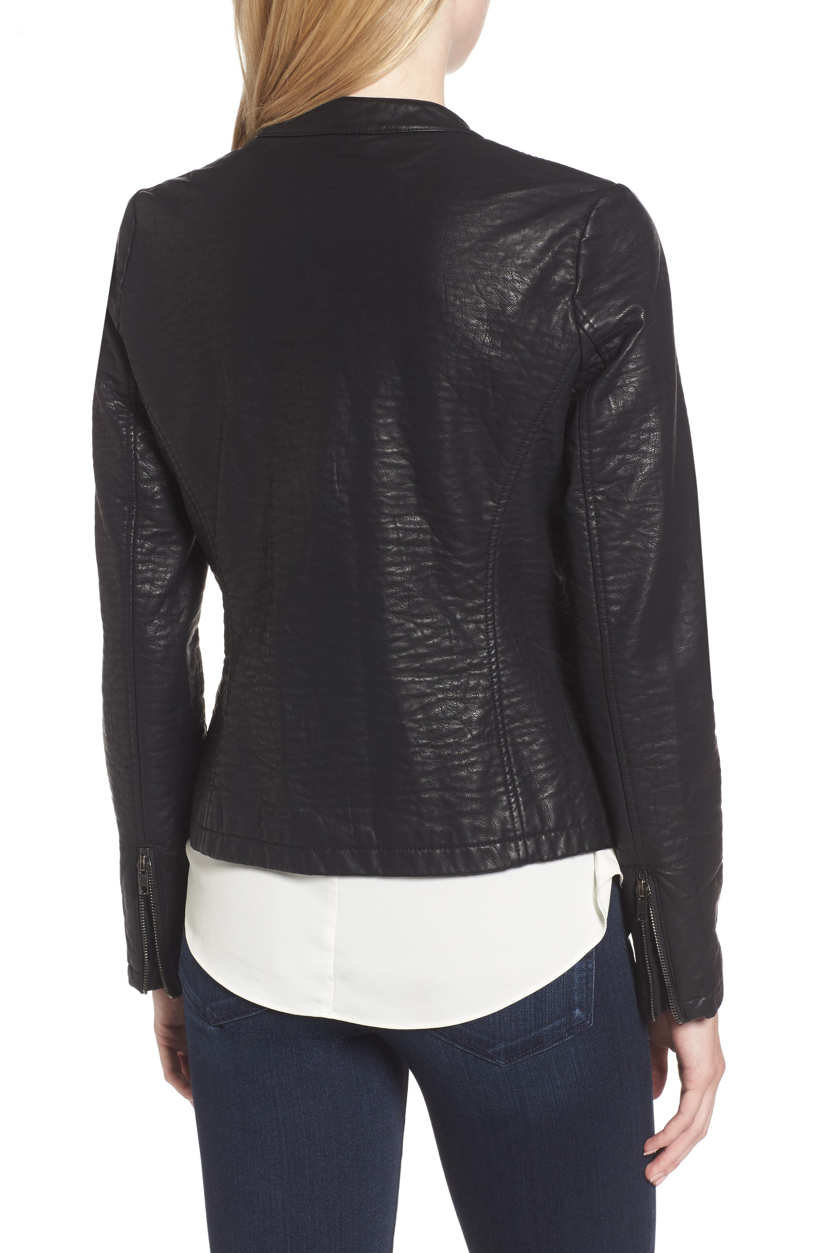 Dolly Faux Leather Jacket,                             Alternate thumbnail 2, color,                             001
