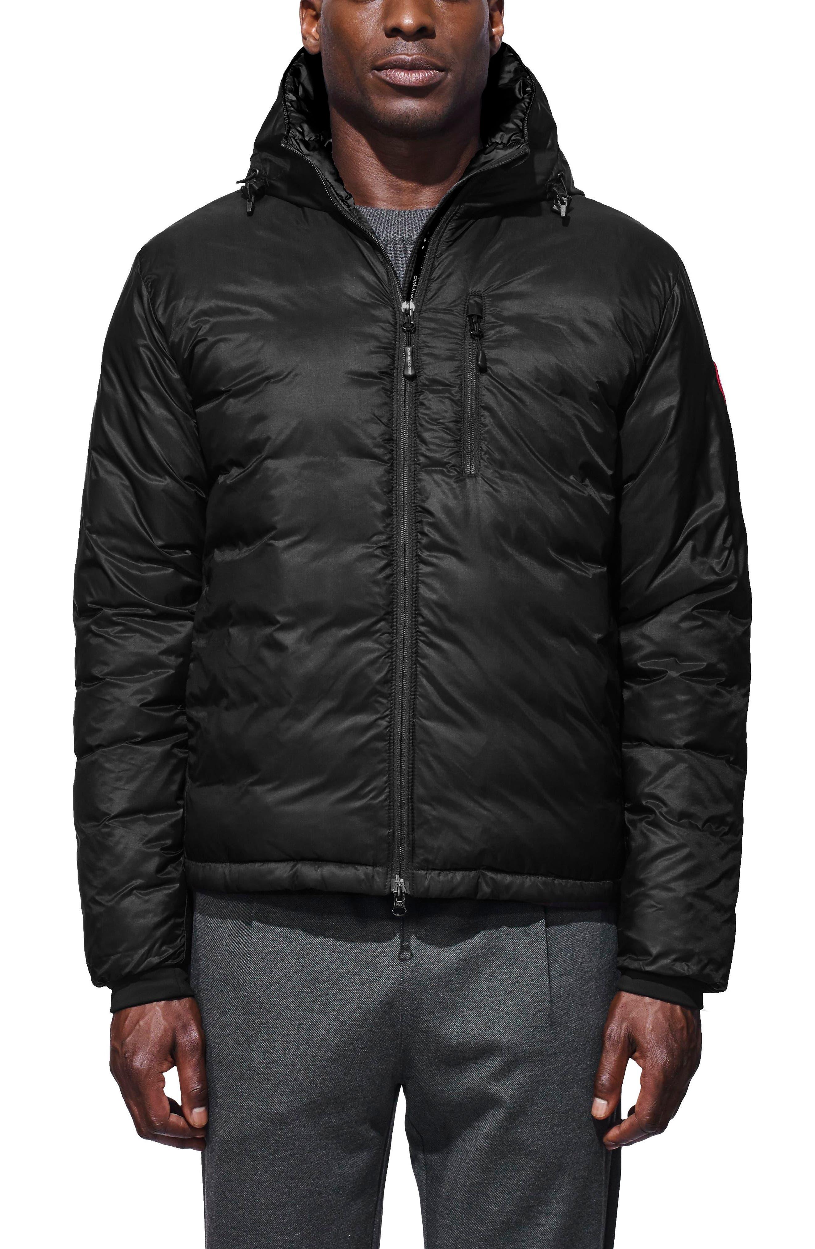 'Lodge' Slim Fit Packable Jacket,                         Main,                         color, BLACK