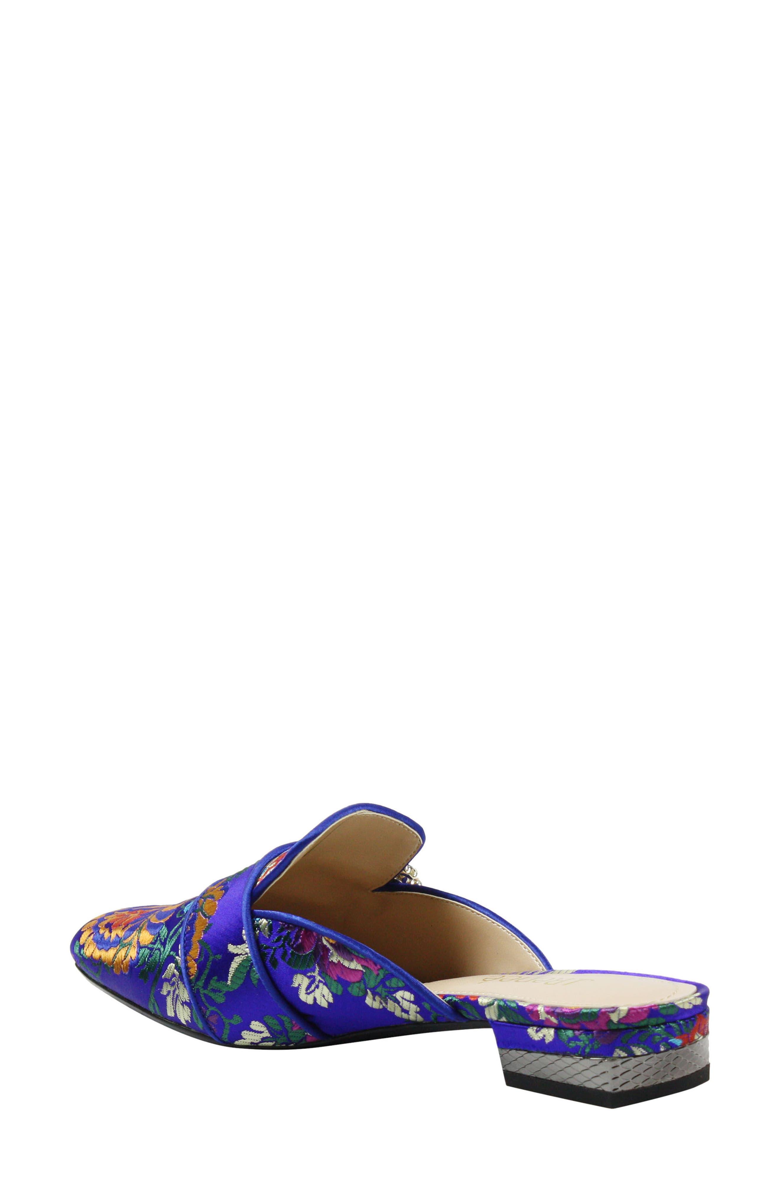 Senonches Mule,                             Alternate thumbnail 2, color,                             BLUE MULTI FABRIC
