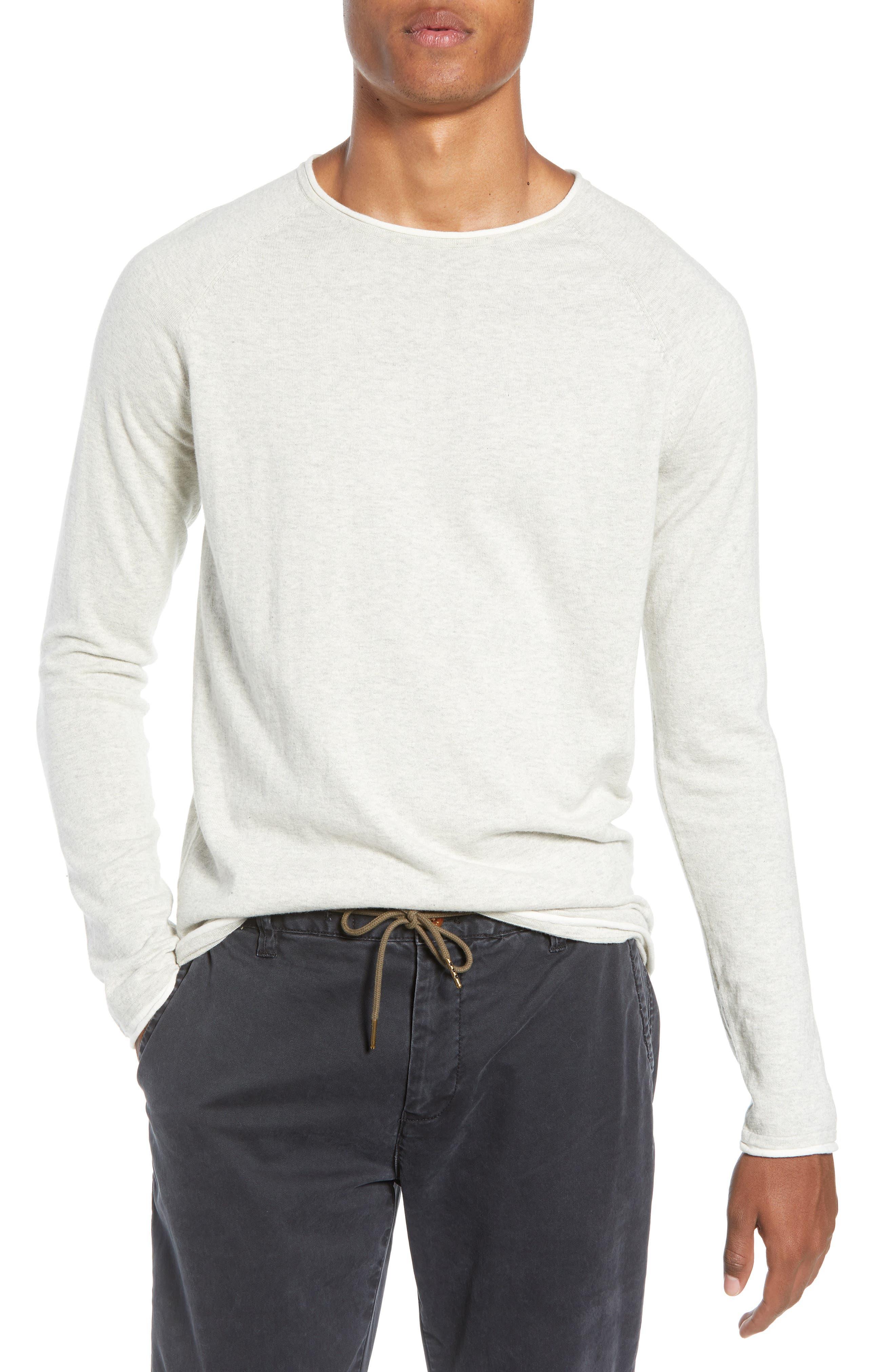 Crewneck Sweatshirt,                             Main thumbnail 1, color,                             BONE WHITE MELANGE