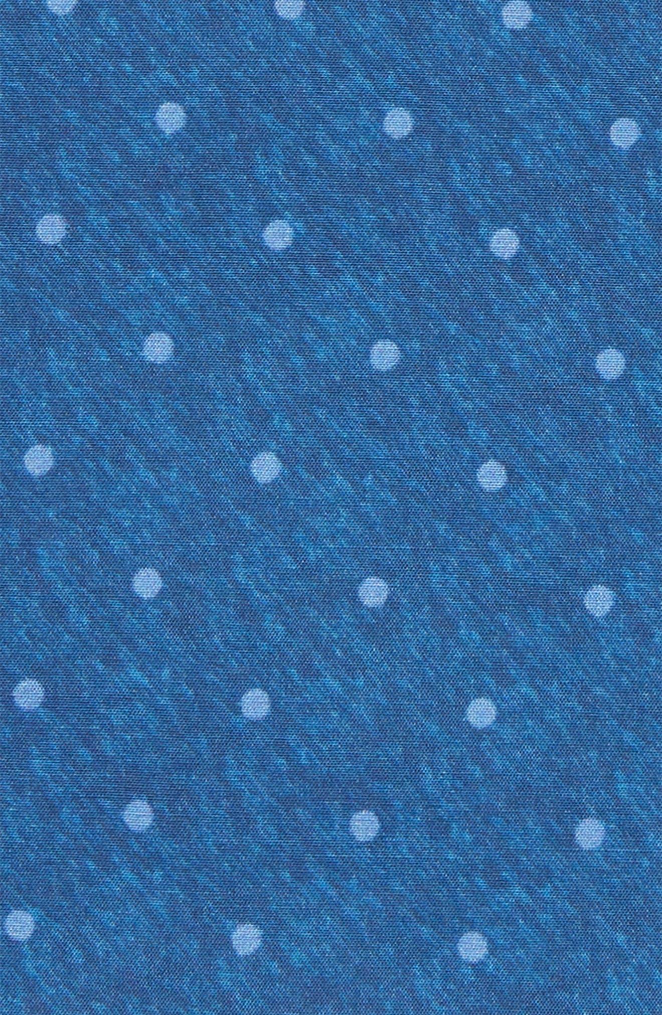 Bethany Dot Cotton & Silk Pocket Square,                             Alternate thumbnail 3, color,                             BLUE