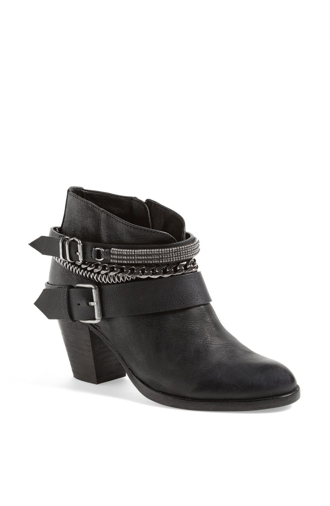'Yazmina' Leather Bootie,                             Main thumbnail 1, color,                             019