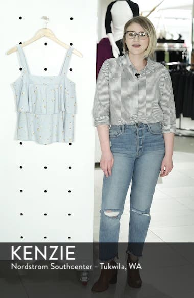 Tie Back Tiered Linen Blend Top, sales video thumbnail