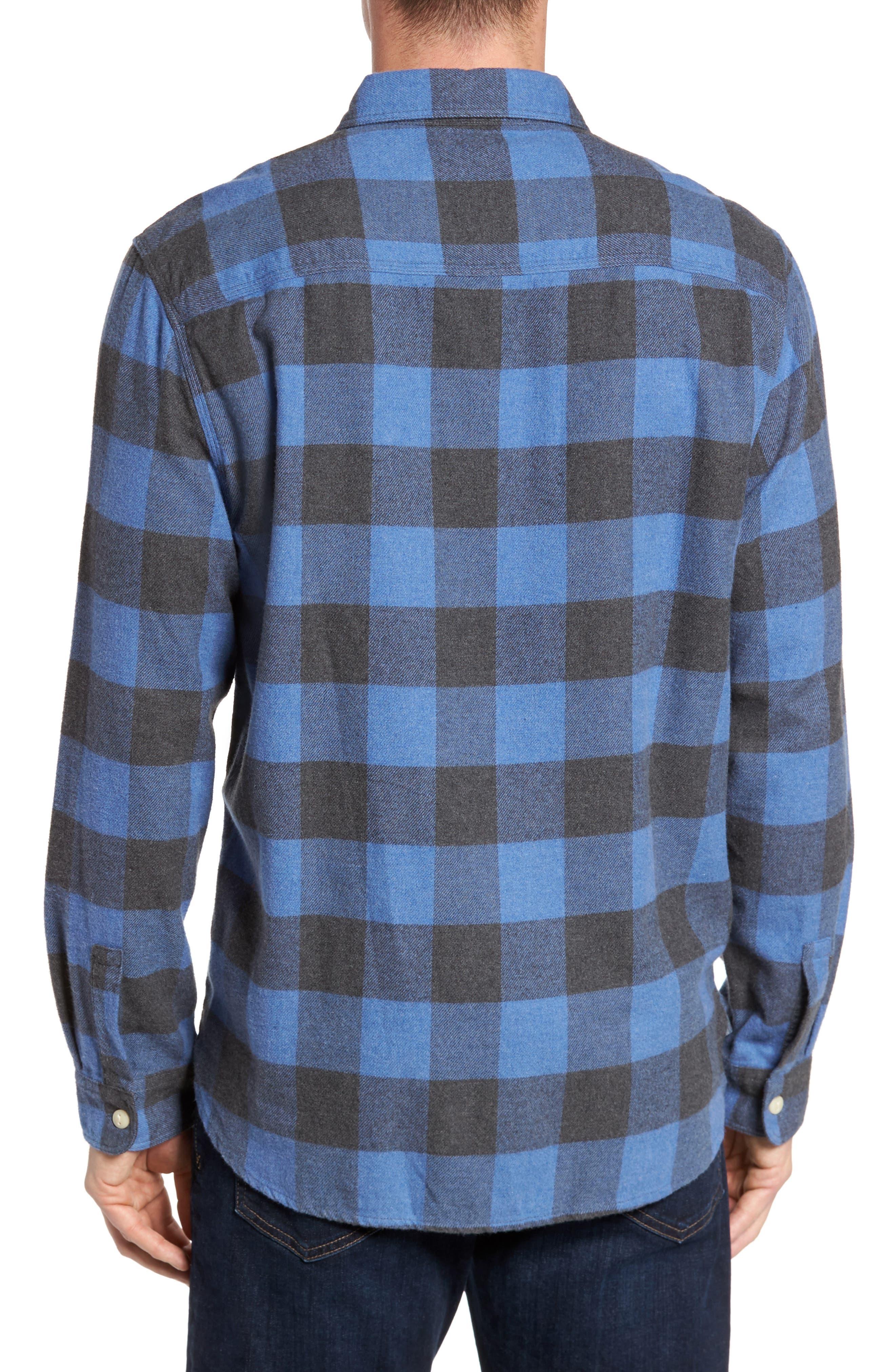 Road Trip Check Flannel Shirt,                             Alternate thumbnail 2, color,