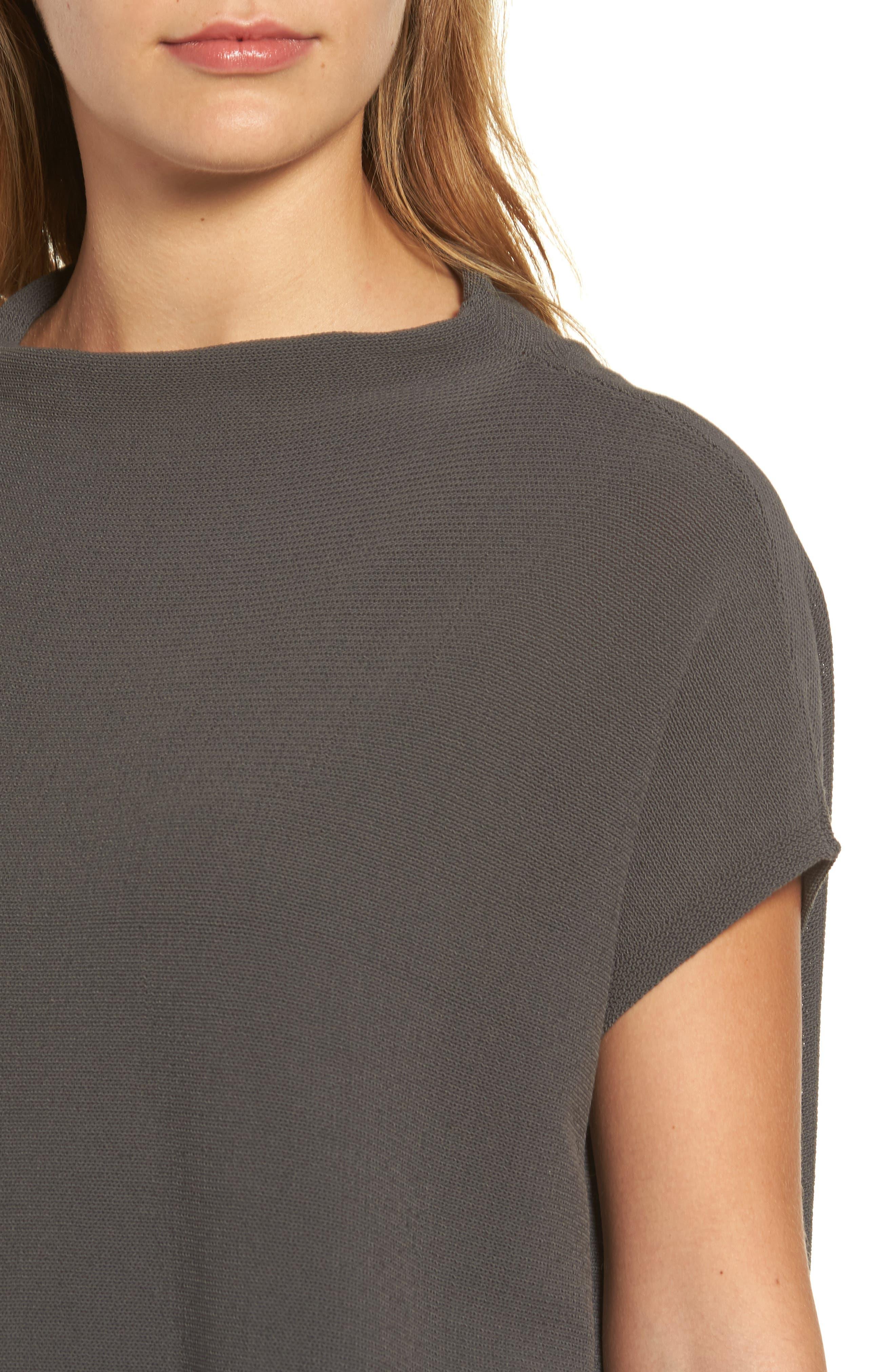 Organic Cotton Blend Funnel Neck Sweater,                             Alternate thumbnail 8, color,