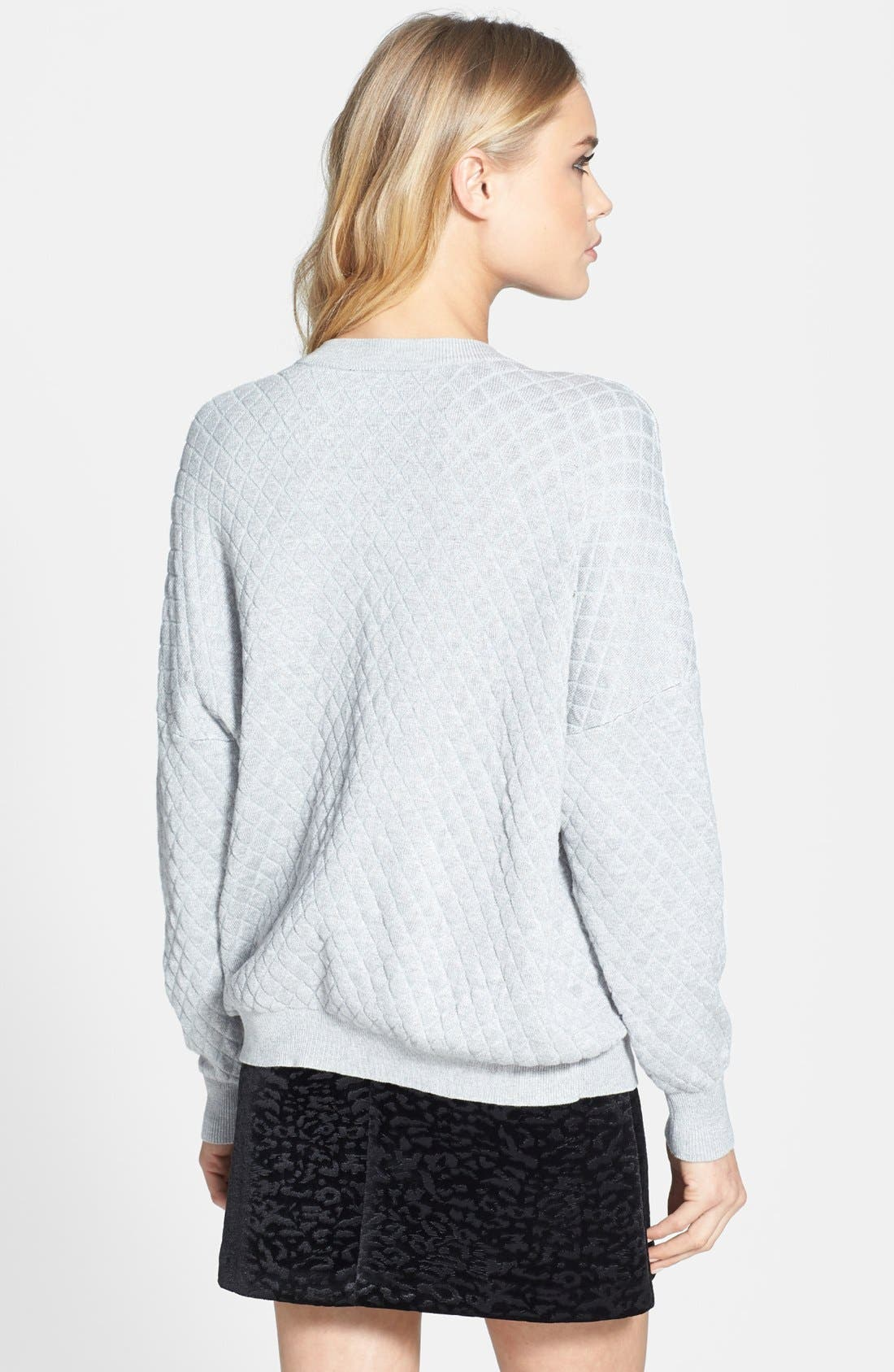 Quilted Sweatshirt,                             Alternate thumbnail 4, color,                             050