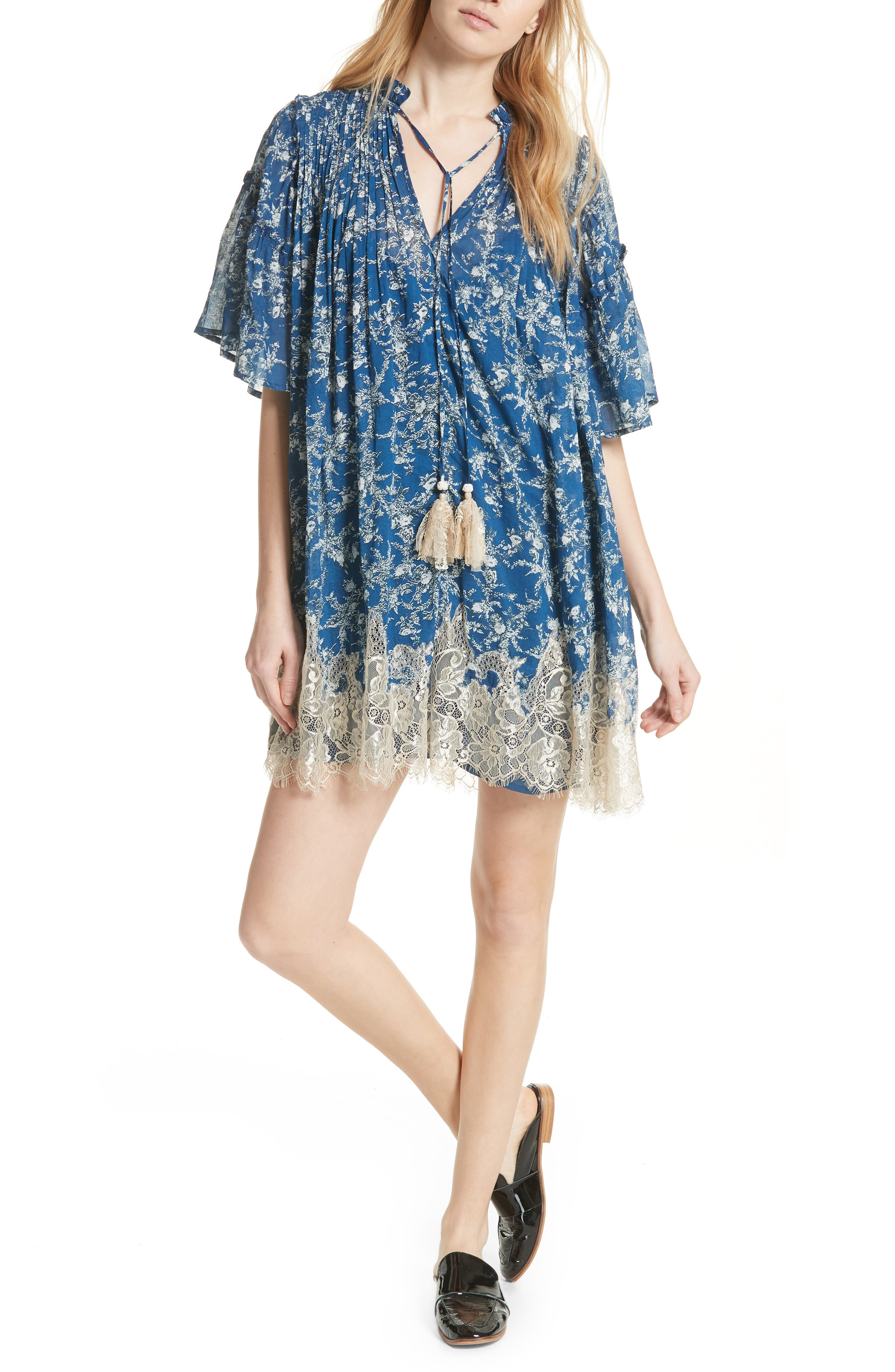 Marigold Minidress,                         Main,                         color, 410