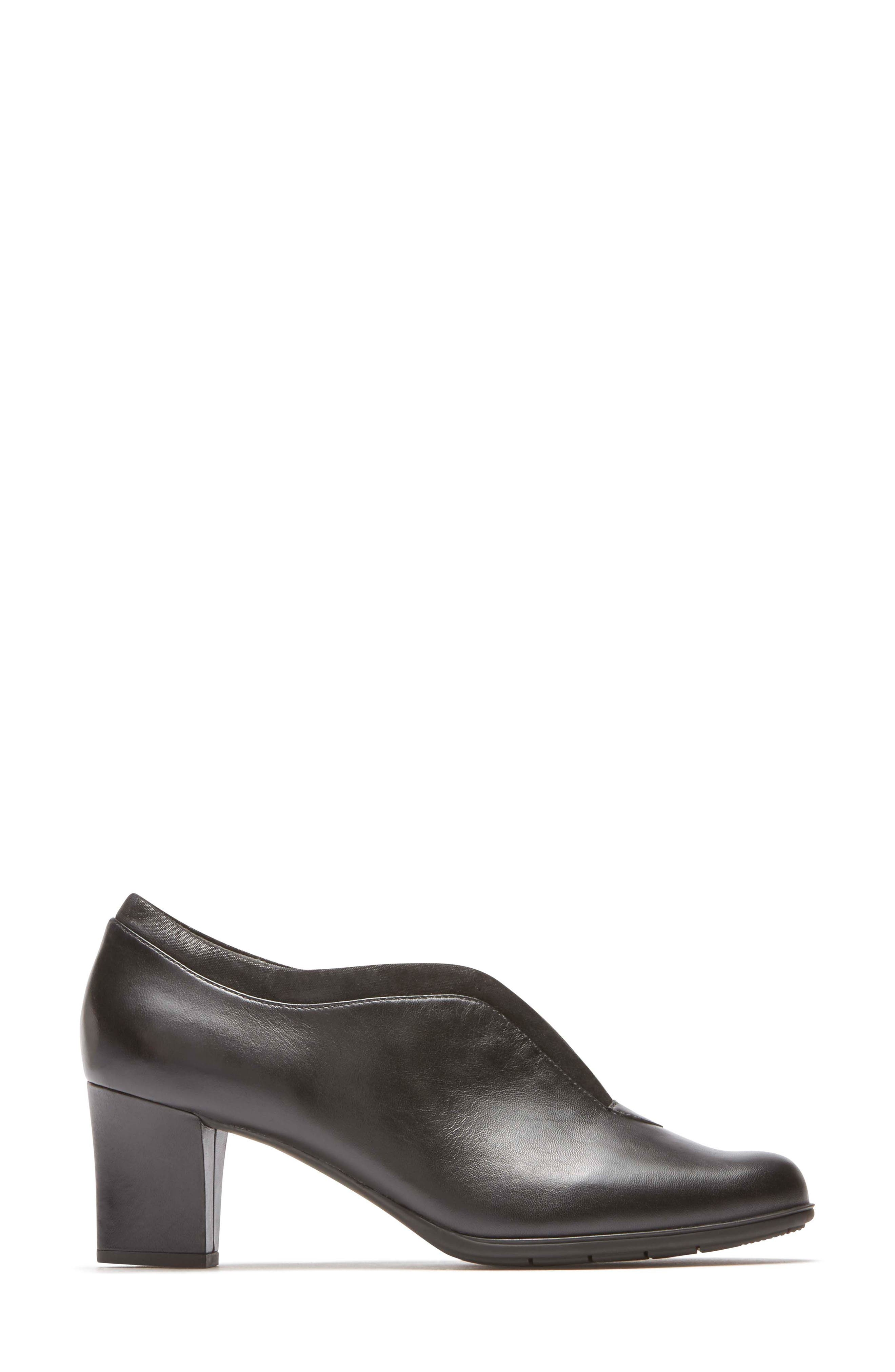 Esty Luxe Pump,                             Alternate thumbnail 3, color,                             BLACK LEATHER
