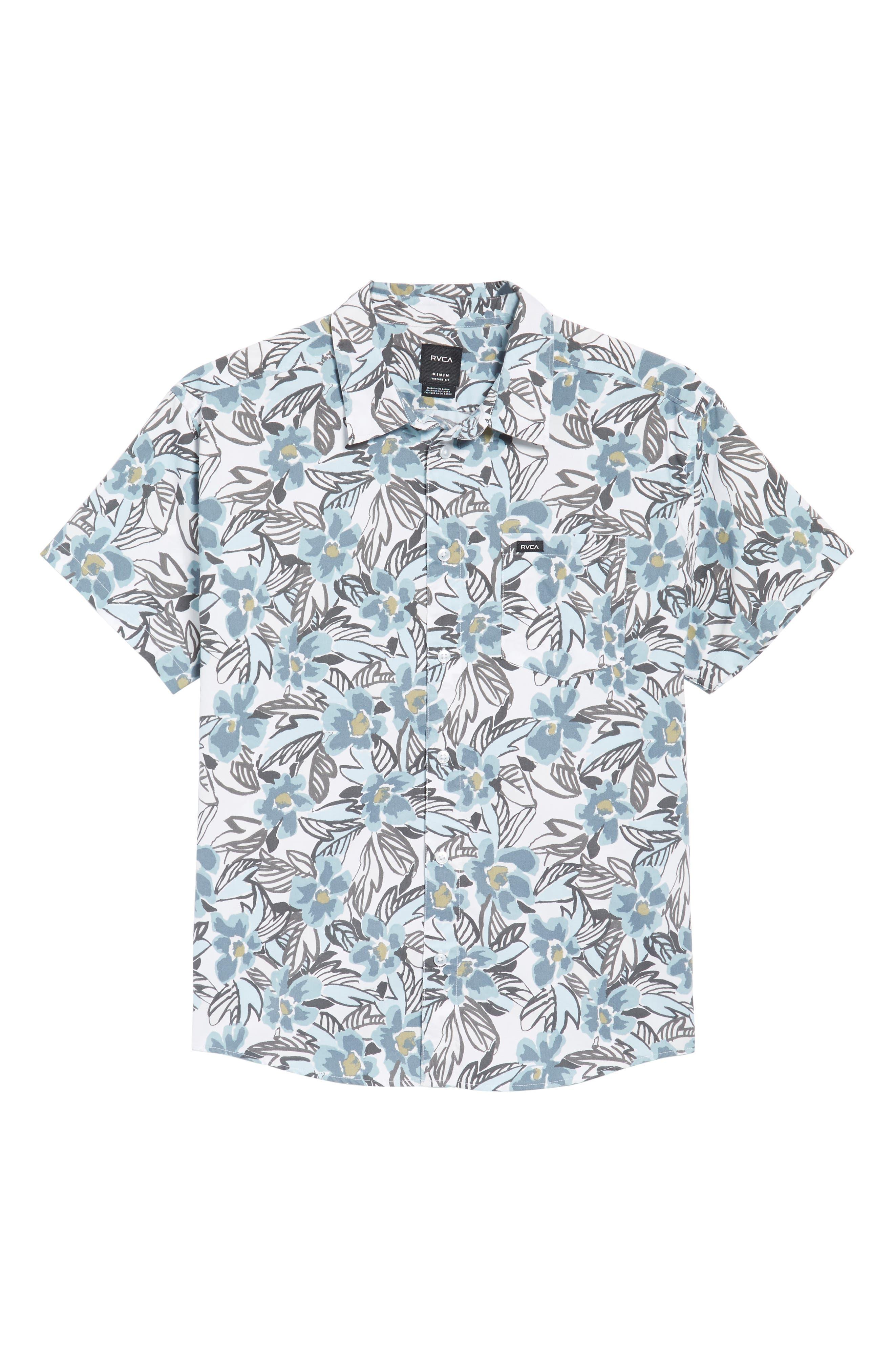 Paradise Valley Floral Woven Shirt,                             Alternate thumbnail 6, color,                             142