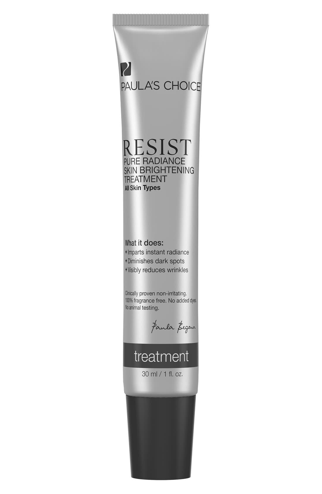 Resist Pure Radiance Skin Brightening Treatment,                             Main thumbnail 1, color,                             NO COLOR