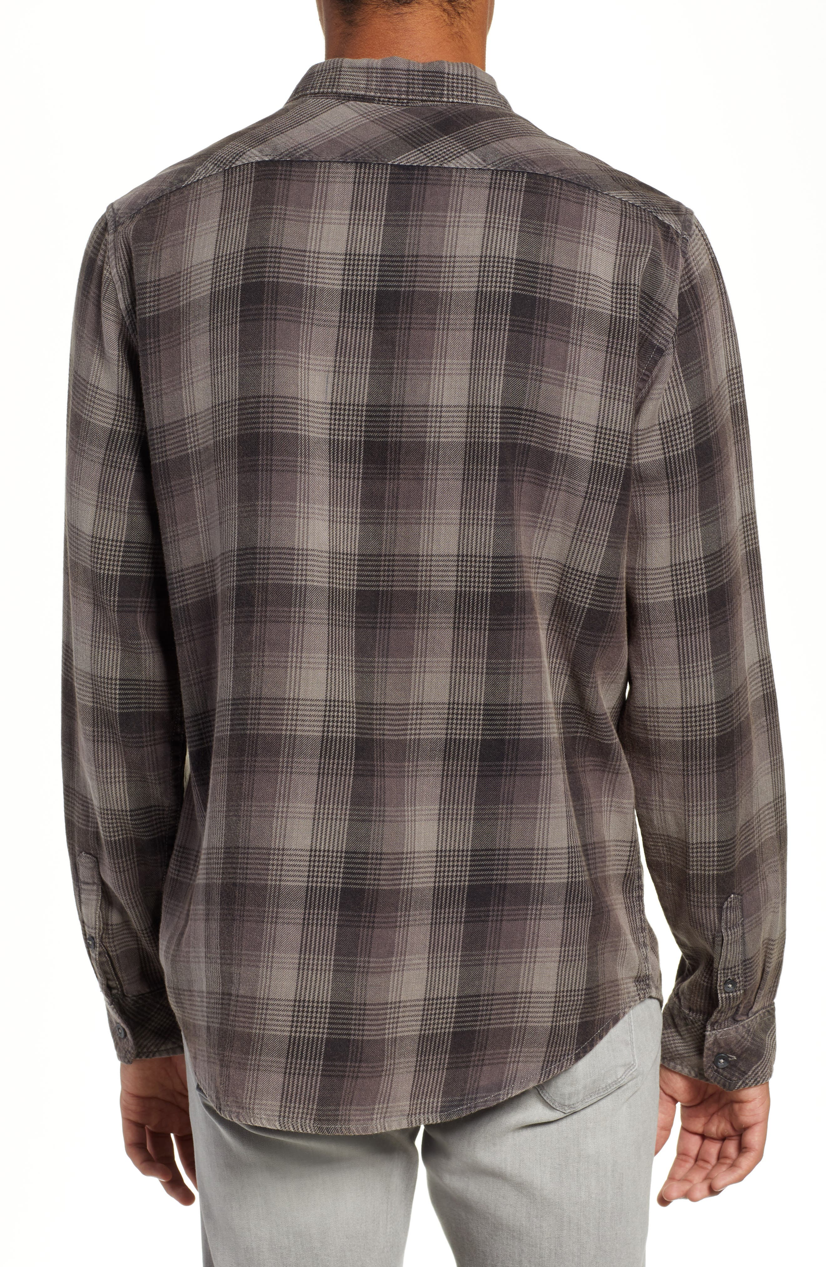 Freemont Flannel Shirt,                             Alternate thumbnail 3, color,                             CHARCOAL