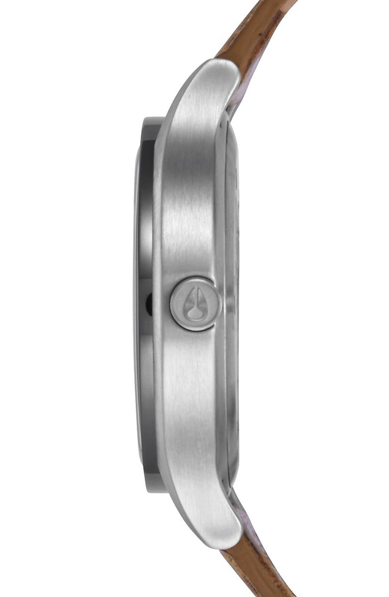Sala Leather Strap Watch, 38mm,                             Alternate thumbnail 2, color,                             TAN/ WHITE/ SILVER