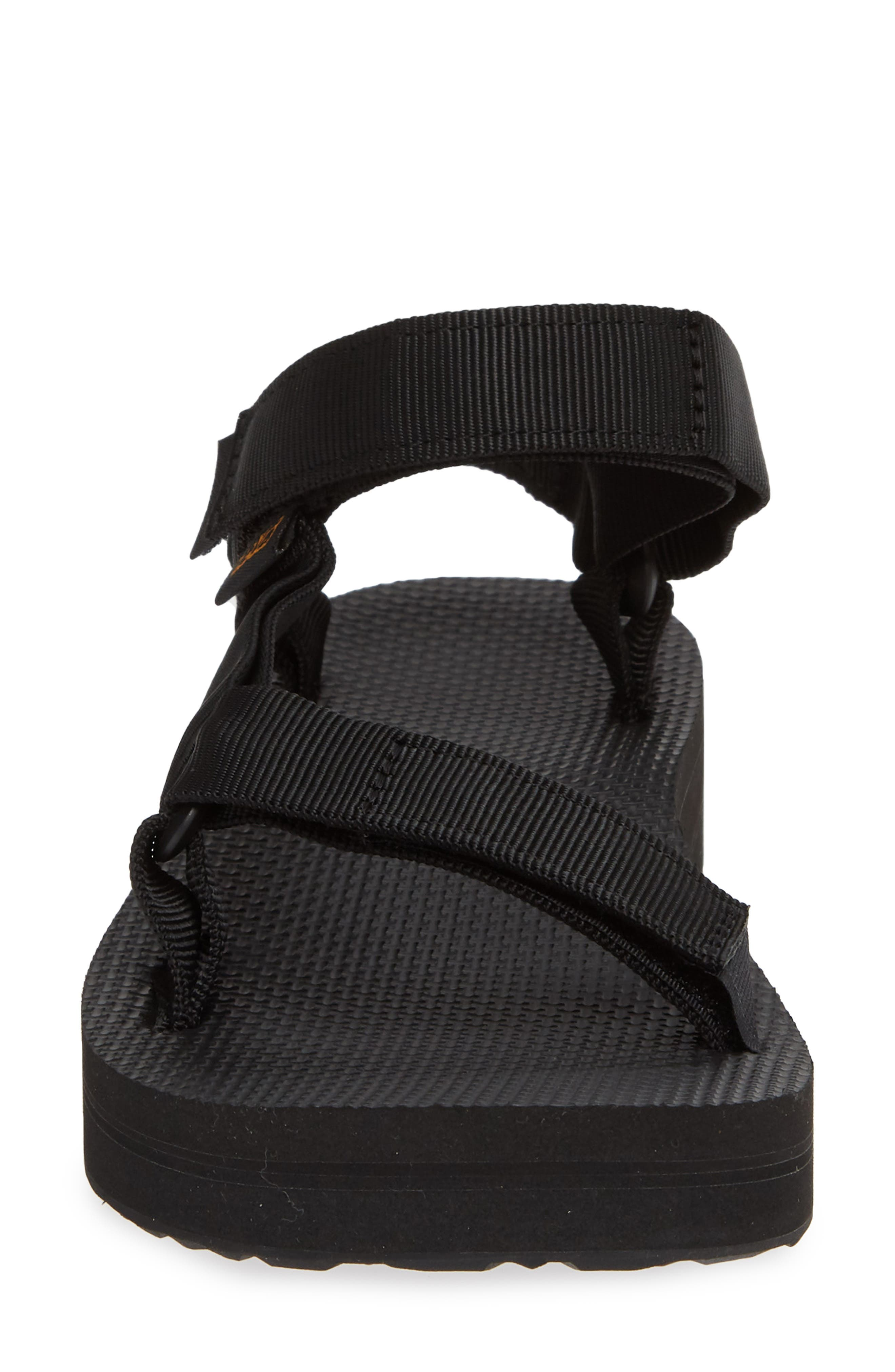 Midform Universal Geometric Sandal,                             Alternate thumbnail 4, color,                             BLACK FABRIC