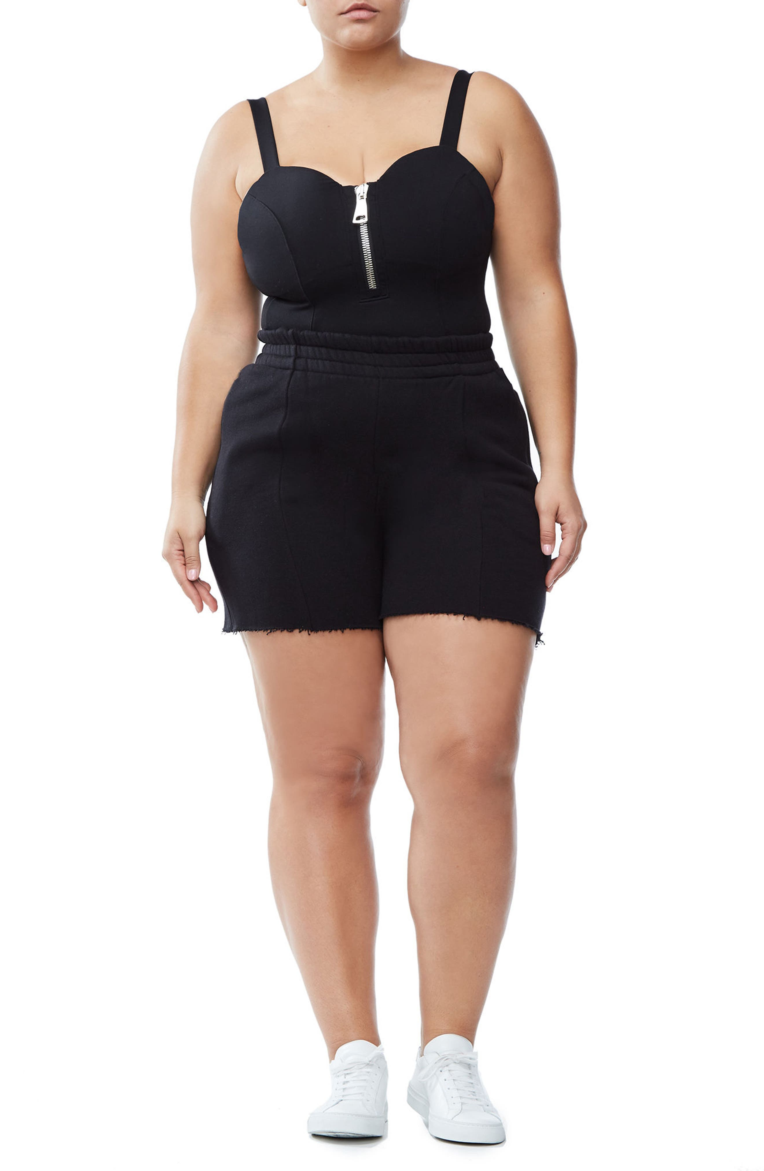 Good Sweats The High Waist Shorts,                             Alternate thumbnail 4, color,                             002