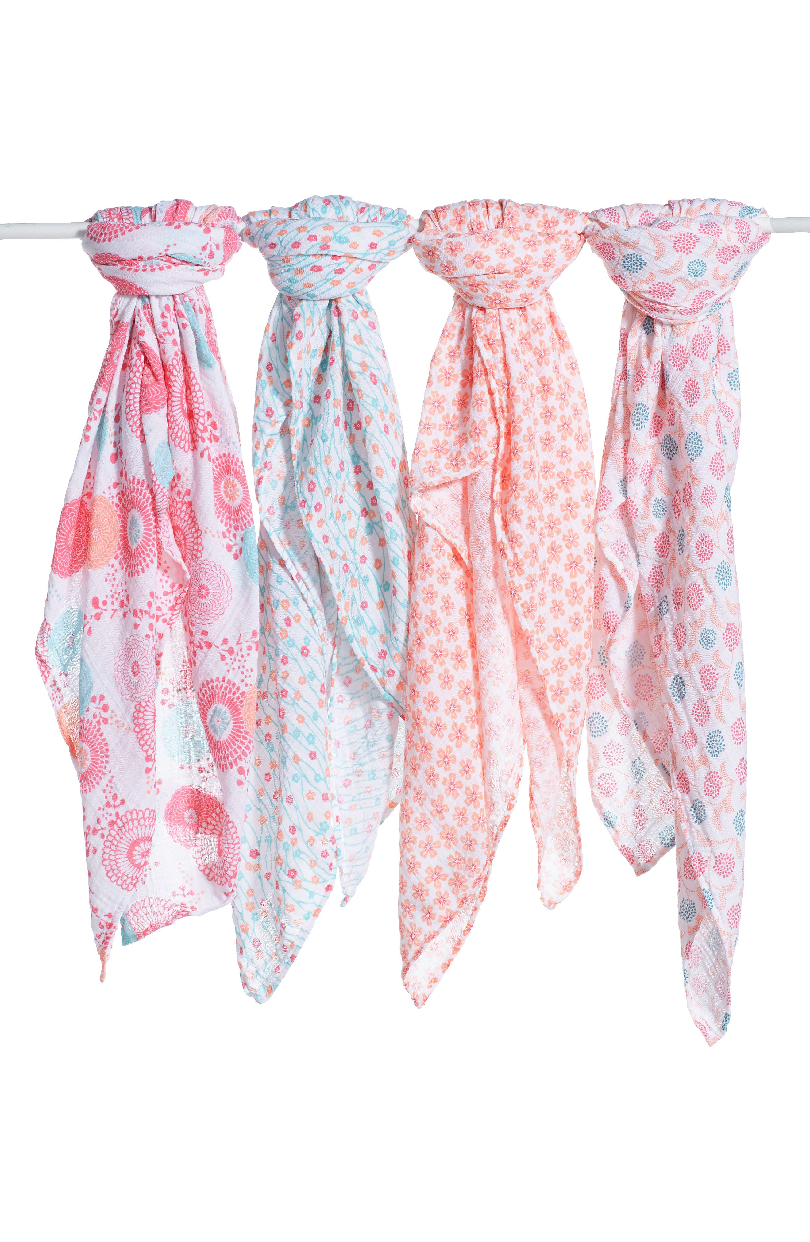 x Tea Collection 4-Pack Swaddling Cloths,                             Main thumbnail 1, color,                             GLOBAL GARDEN