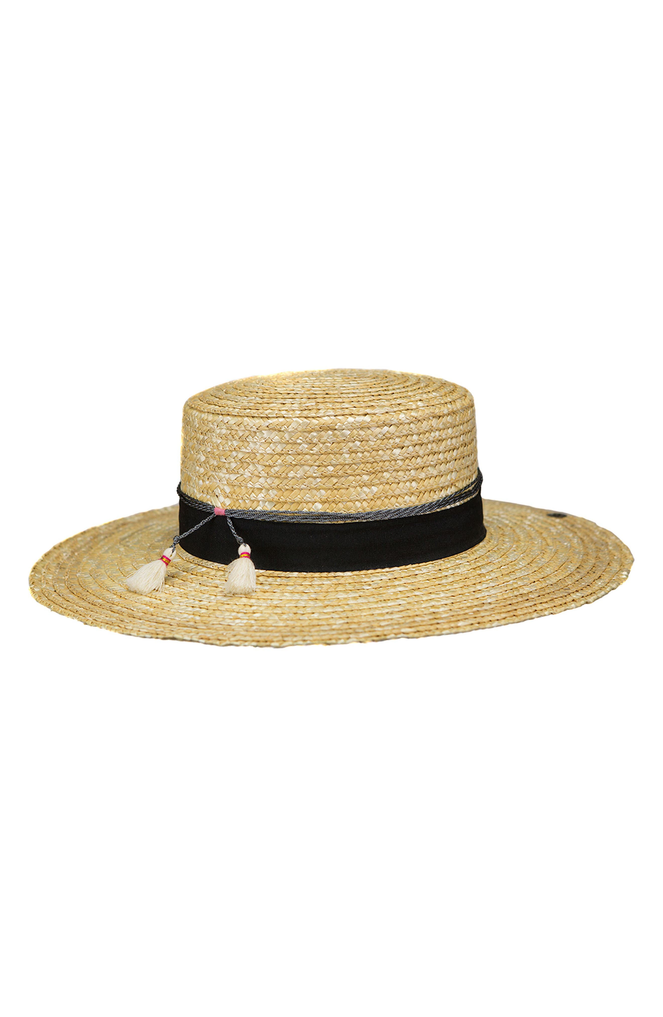 Teresa Wheat Straw Resort Hat,                             Main thumbnail 1, color,                             NATURAL