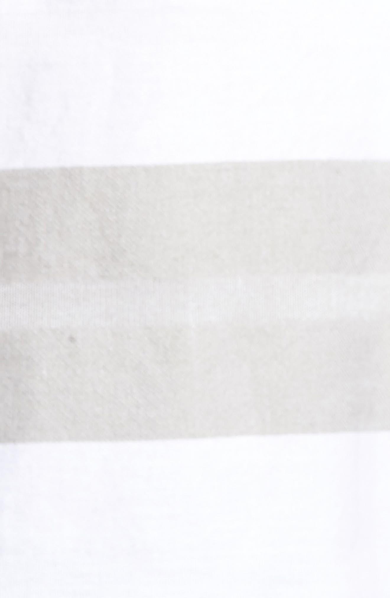 Dobson Woven Shirt,                             Alternate thumbnail 5, color,                             WHITE/SMOKE STRIPE