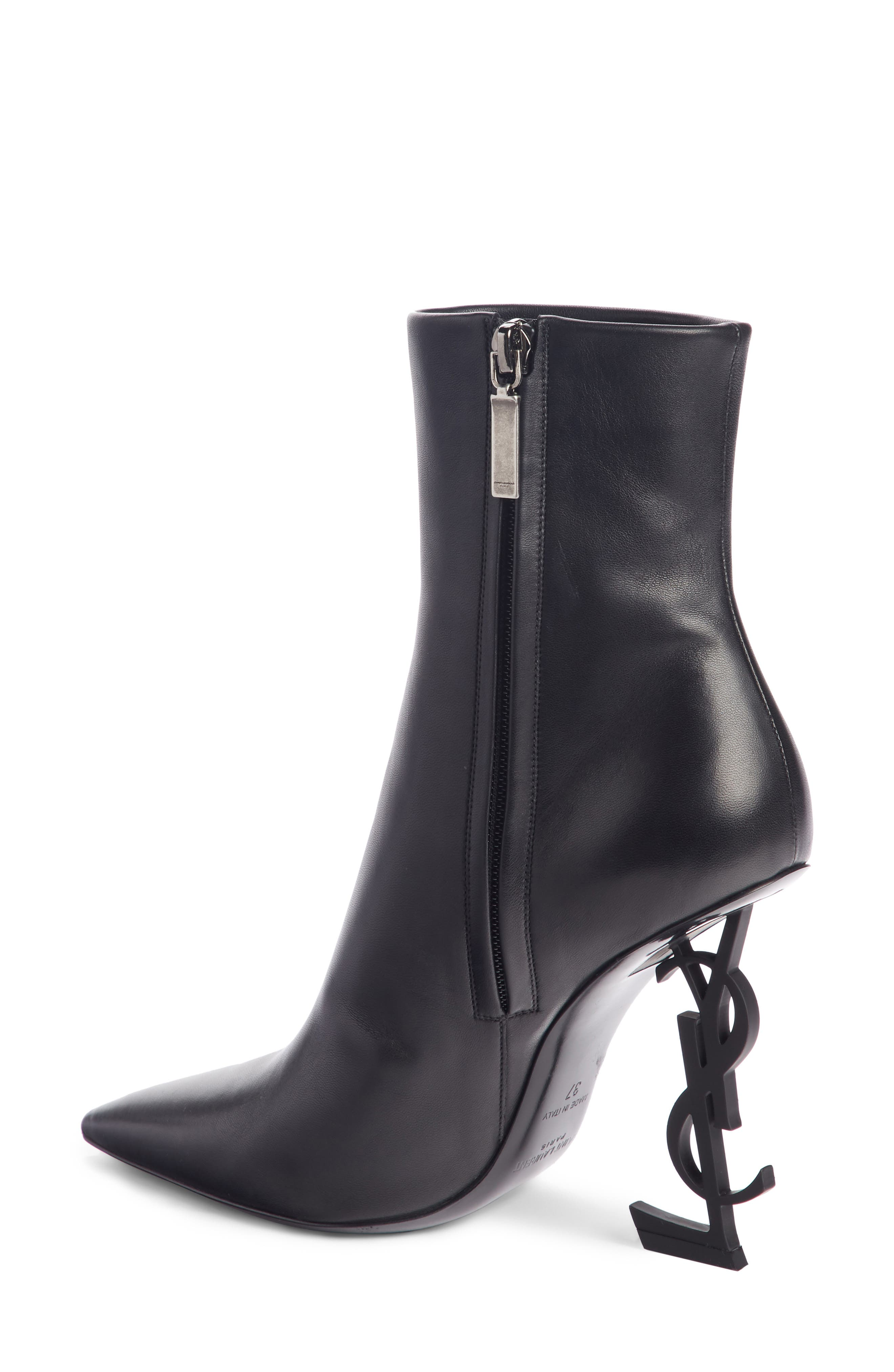 Opyum YSL Bootie,                             Alternate thumbnail 2, color,                             BLACK LEATHER